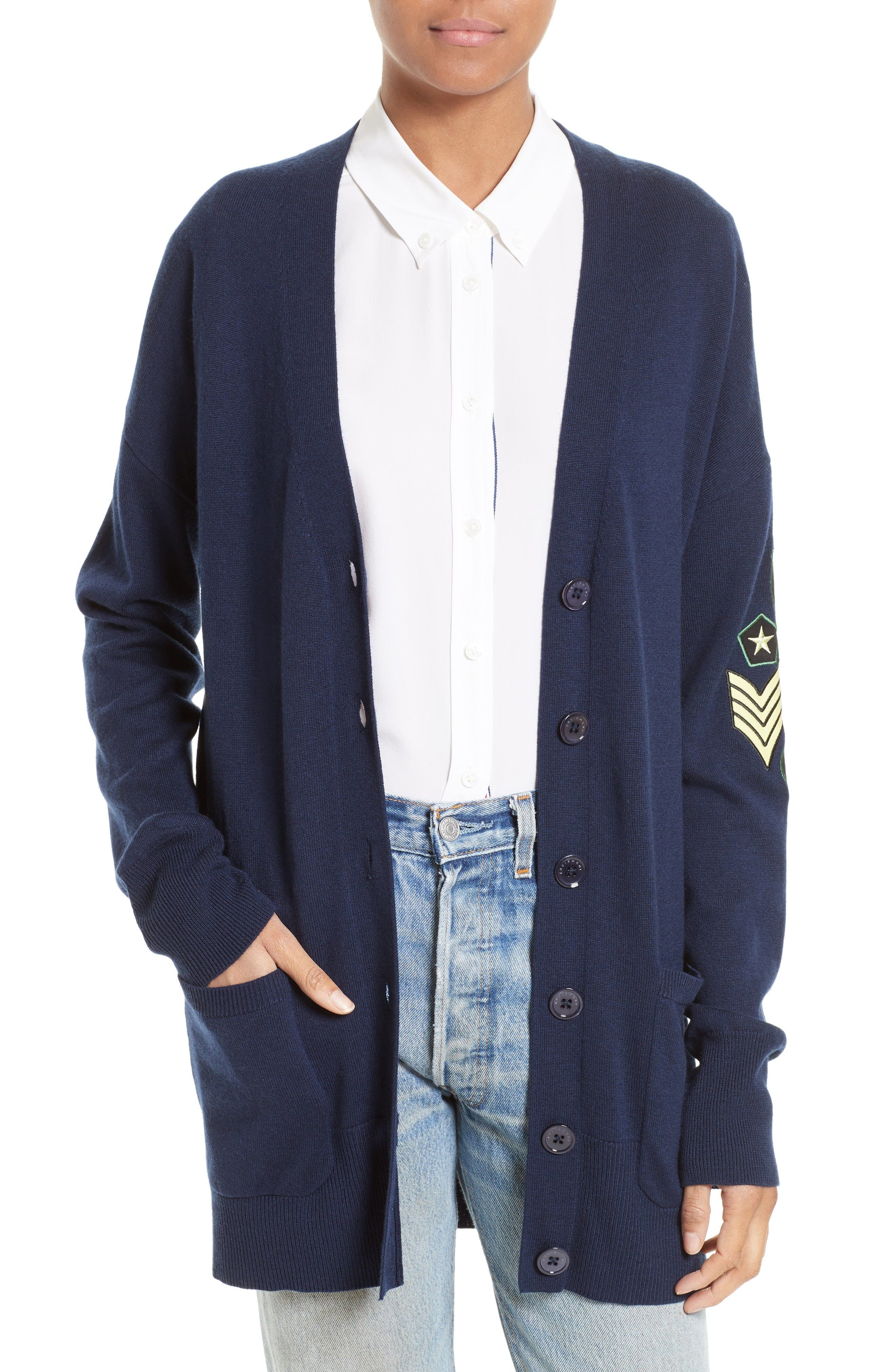 Equipment Gia Patch Cardigan