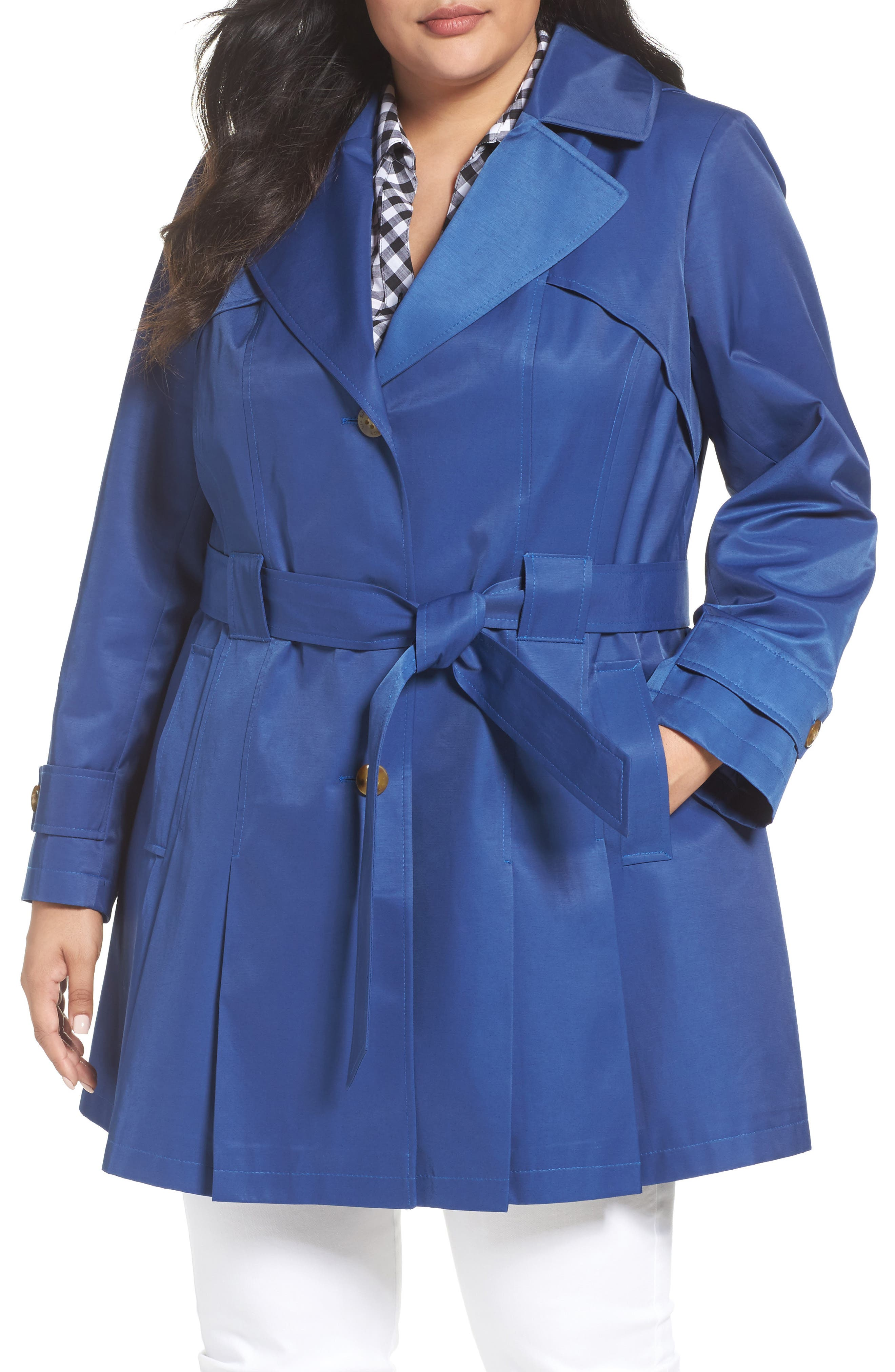 Via Spiga 'Scarpa' Single Breasted Trench Coat (Plus Size)
