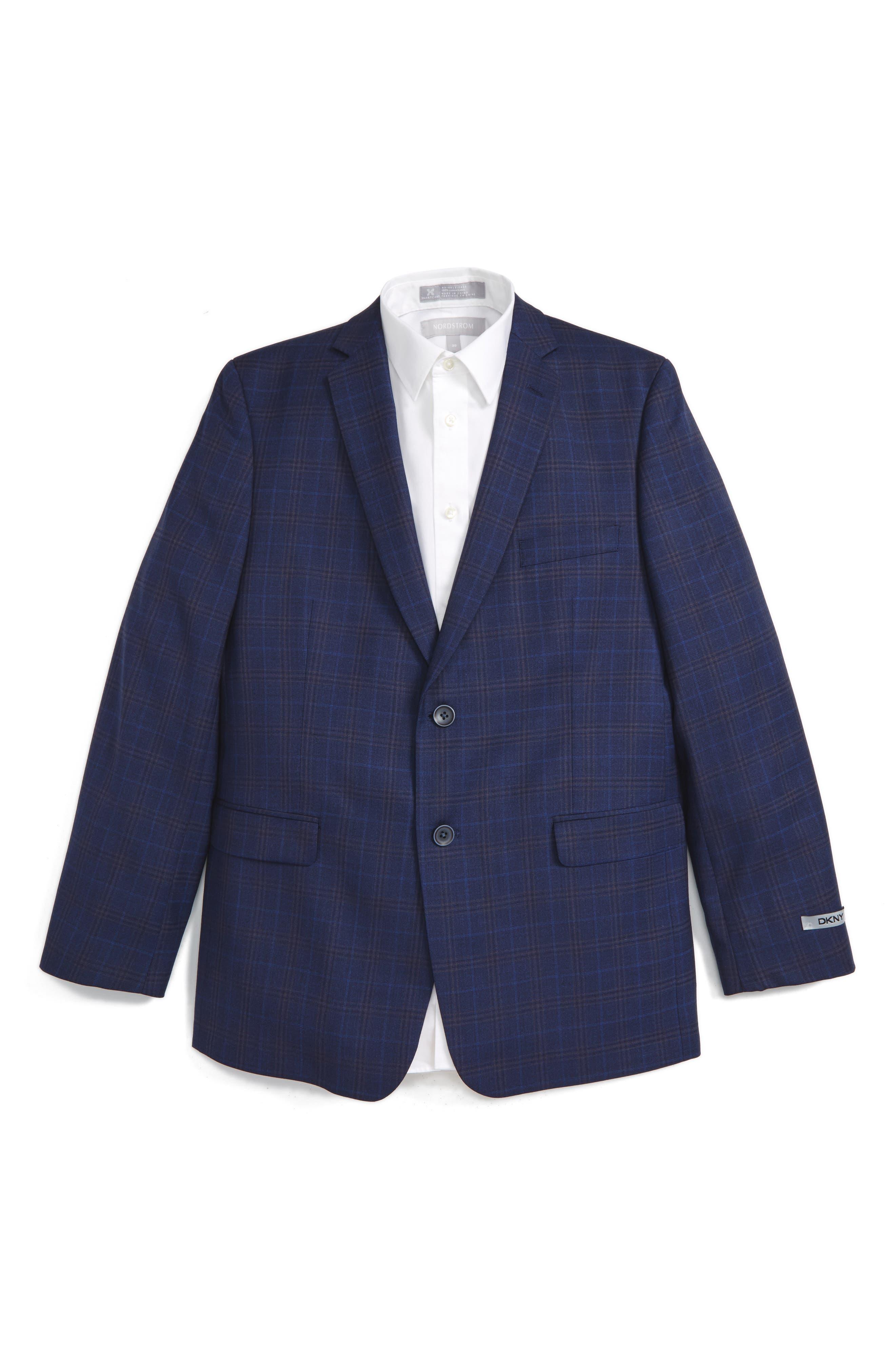 DKNY Check Wool Blazer