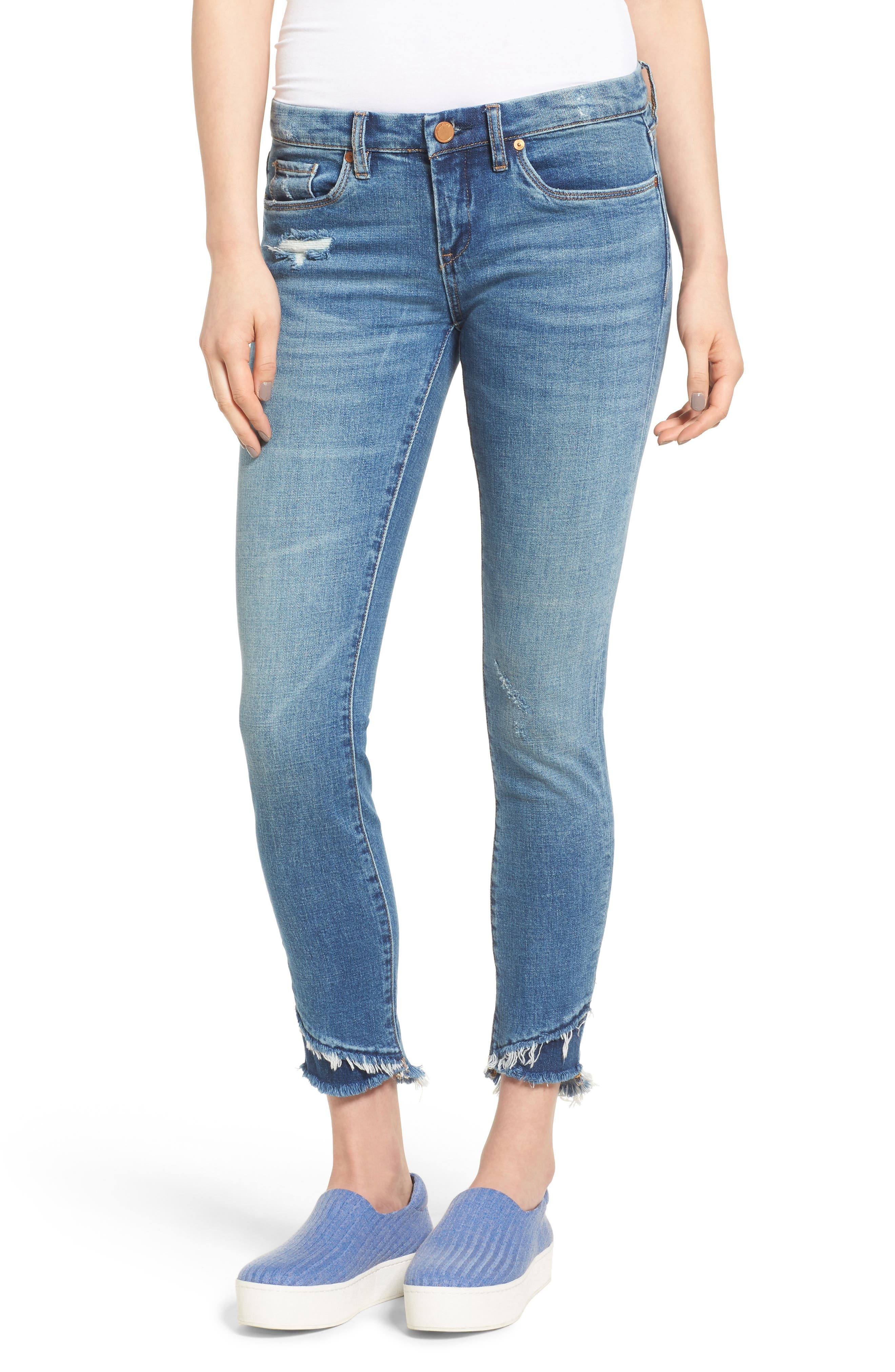 BLANKNYC The Classique Crop Skinny Jeans (App Happy)