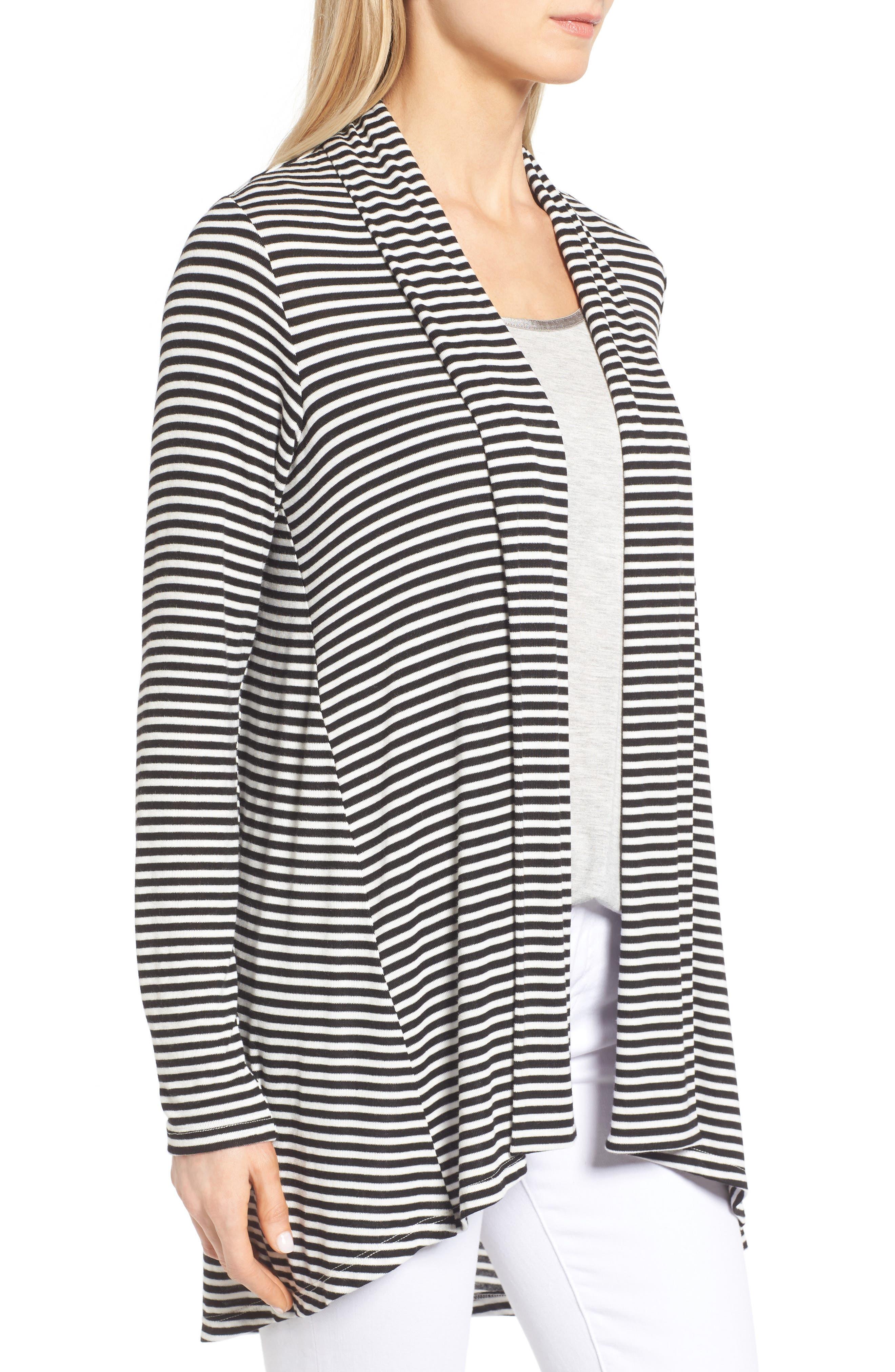 Alternate Image 3  - Bobeau High/Low Jersey Cardigan (Regular & Petite)