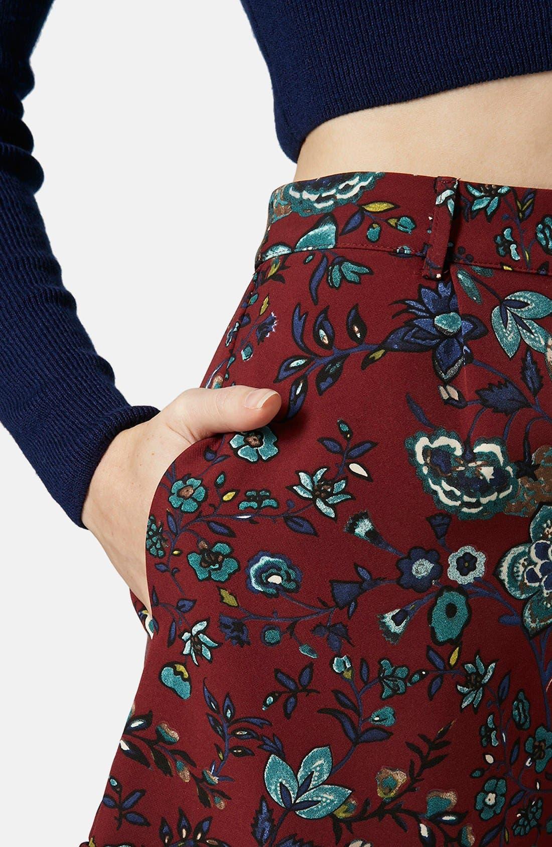 Alternate Image 3  - Topshop 'Blueberry Flower' Cuff Shorts