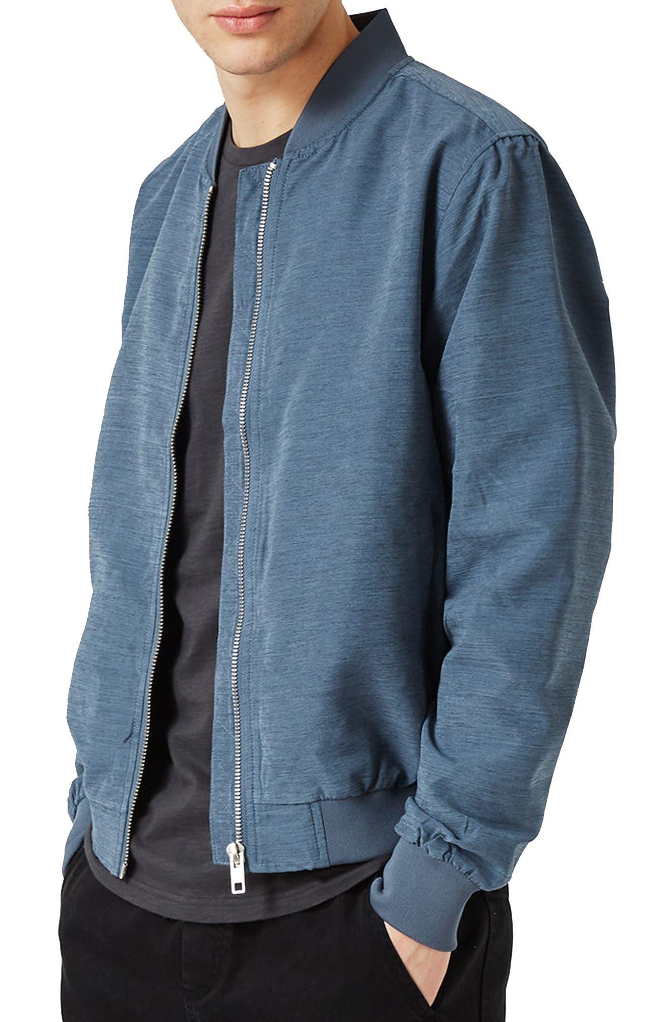 Topman Textured Bomber Jacket