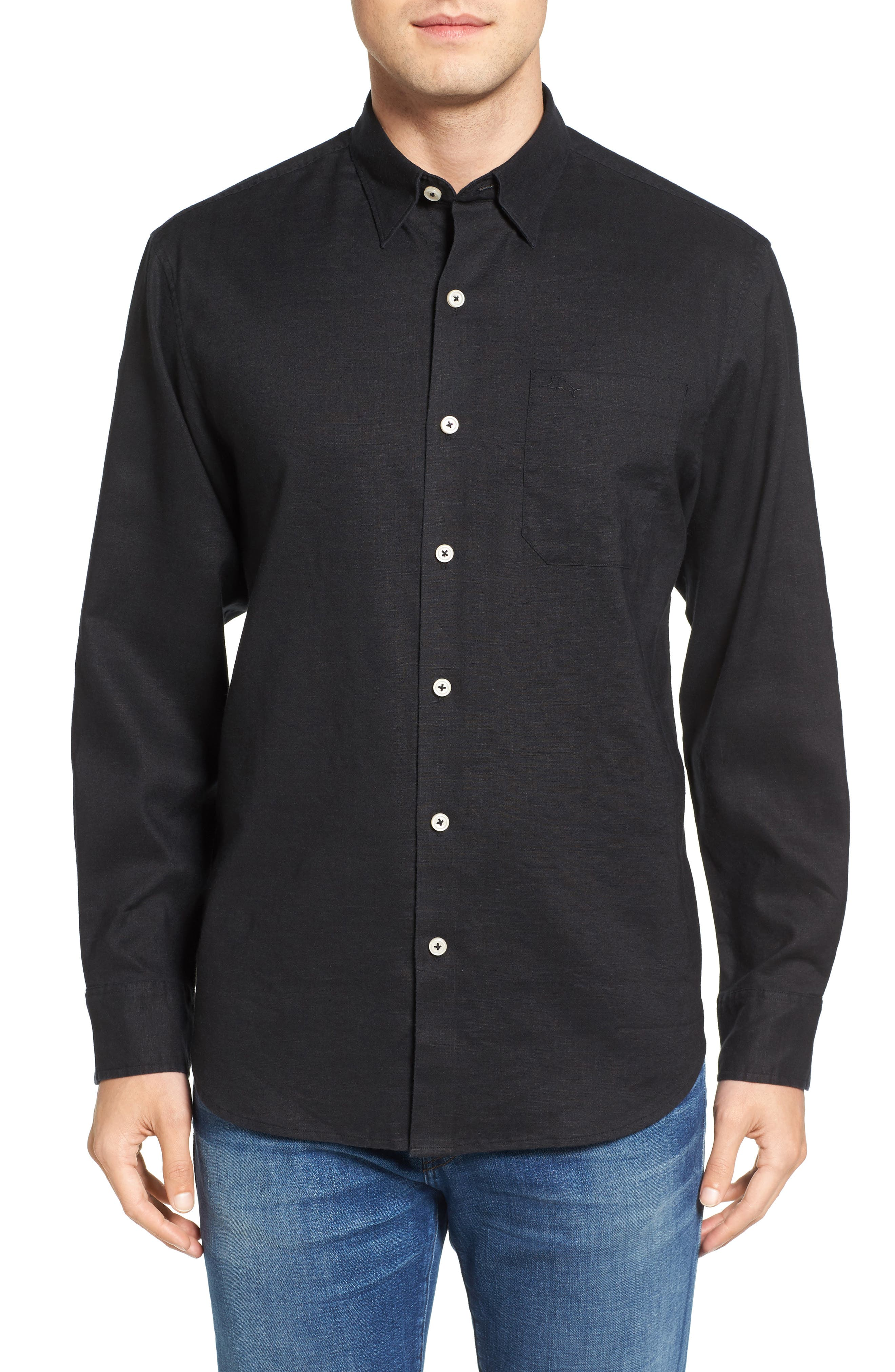 Tommy Bahama Monaco Tides Linen Blend Sport Shirt (Big & Tall)