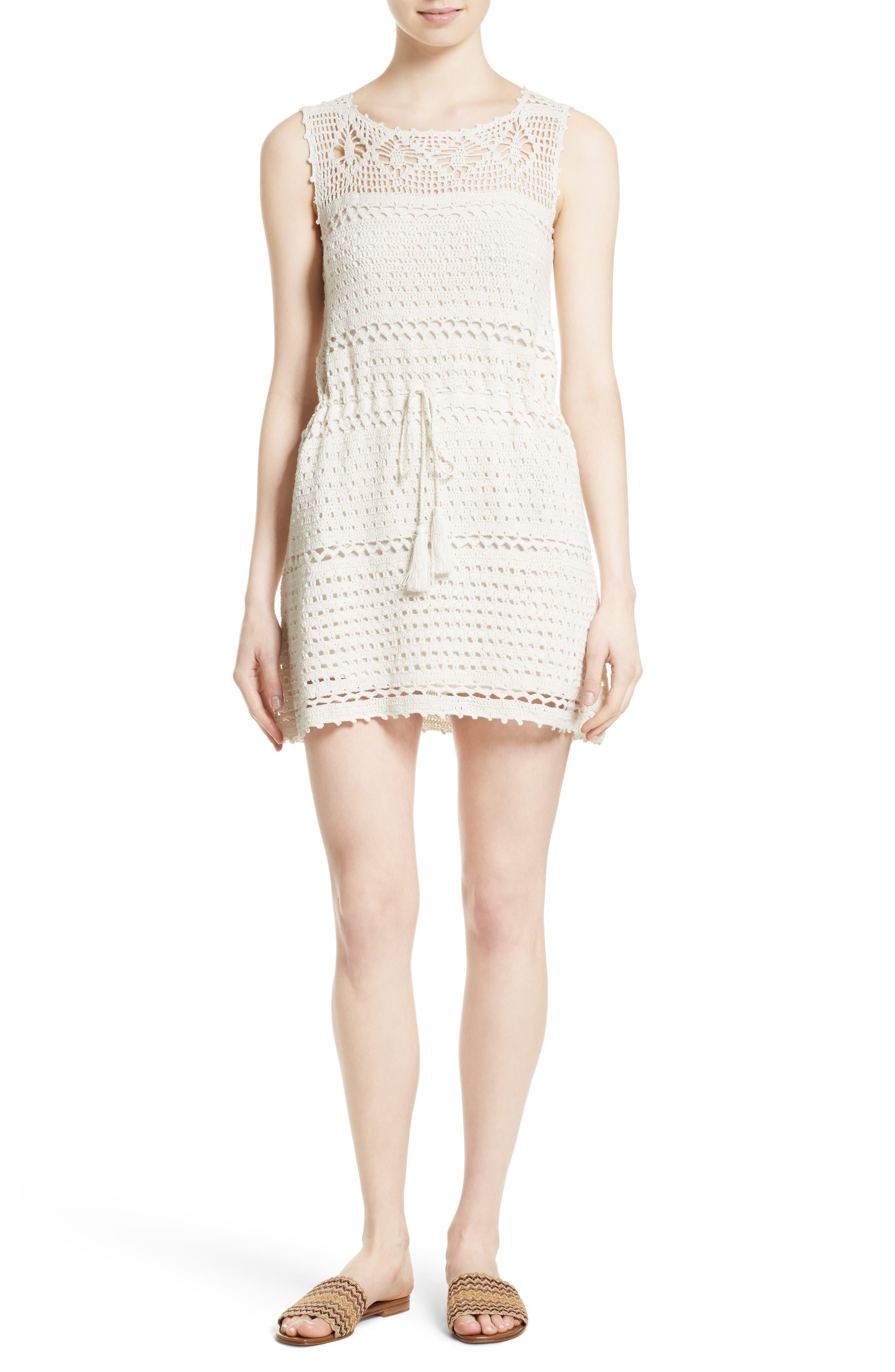 Joie Nawra Crochet Cotton Shift Dress
