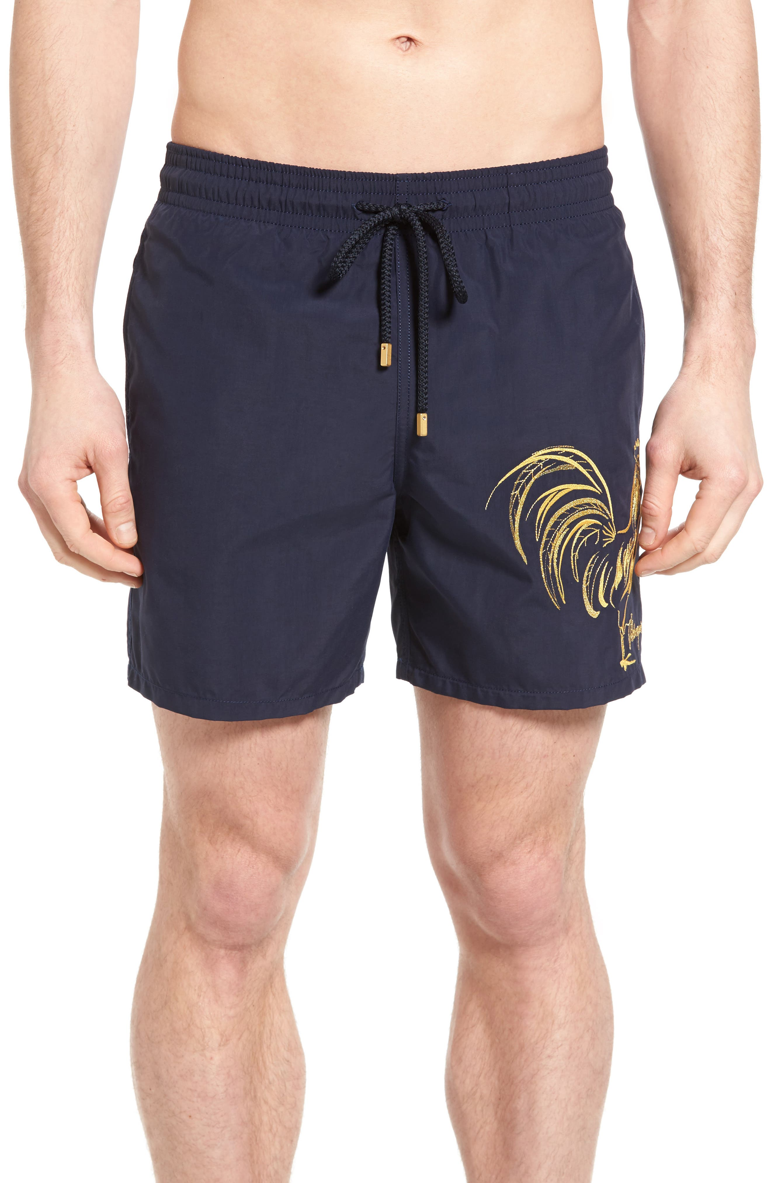 Vilebrequin Motu Embroidered Rooster Swim Trunks