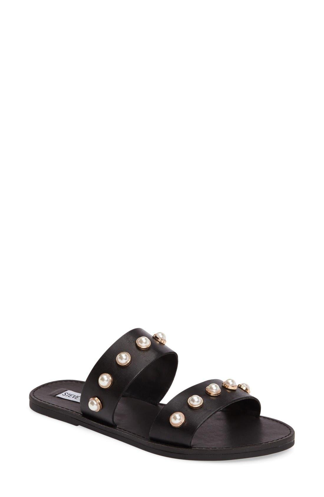 Alternate Image 1 Selected - Steve Madden Jole Embellished Slide Sandal (Women)