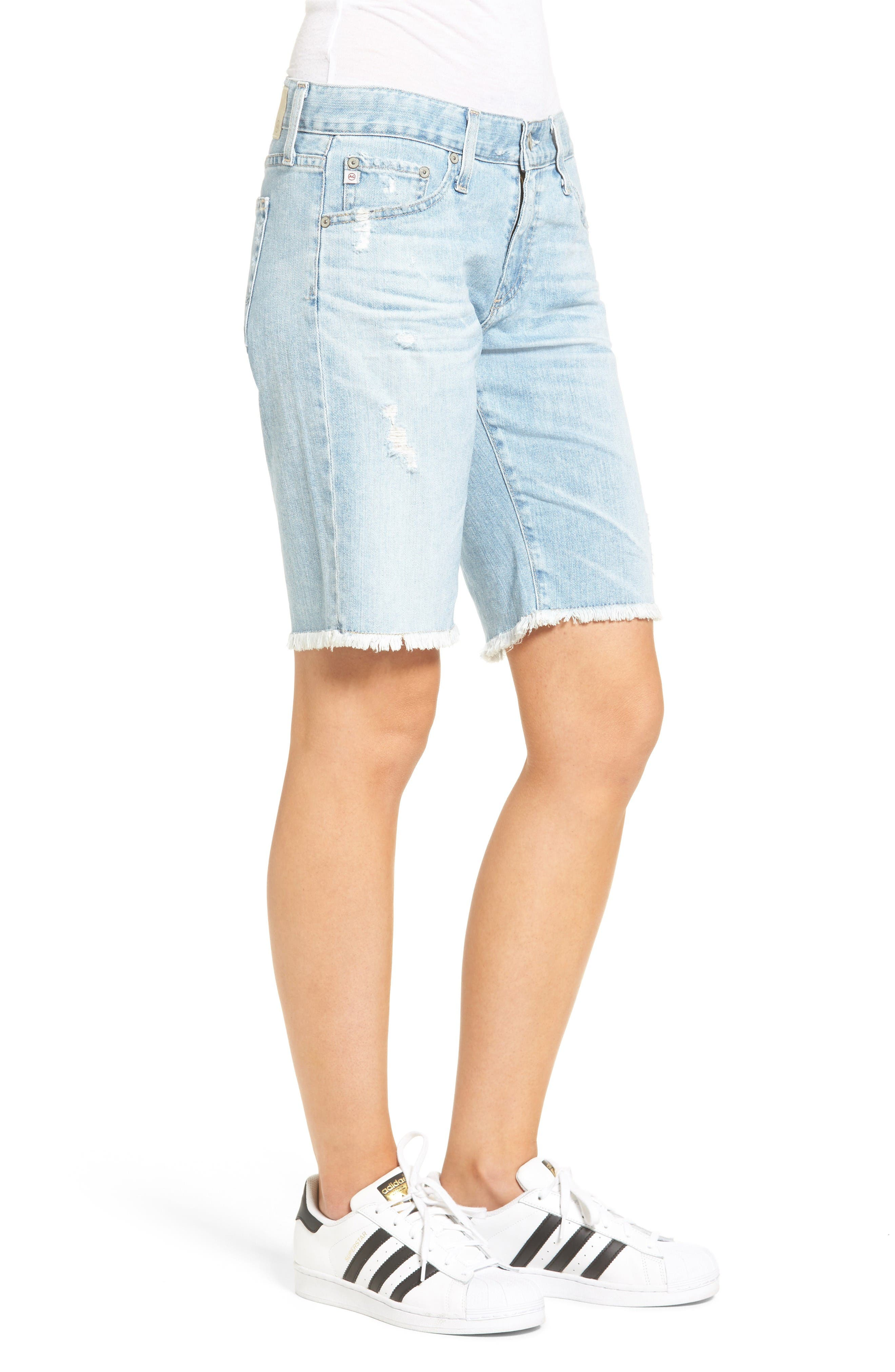 Alternate Image 3  - AG The Nikki Denim Bermuda Shorts (24 Year Relief)
