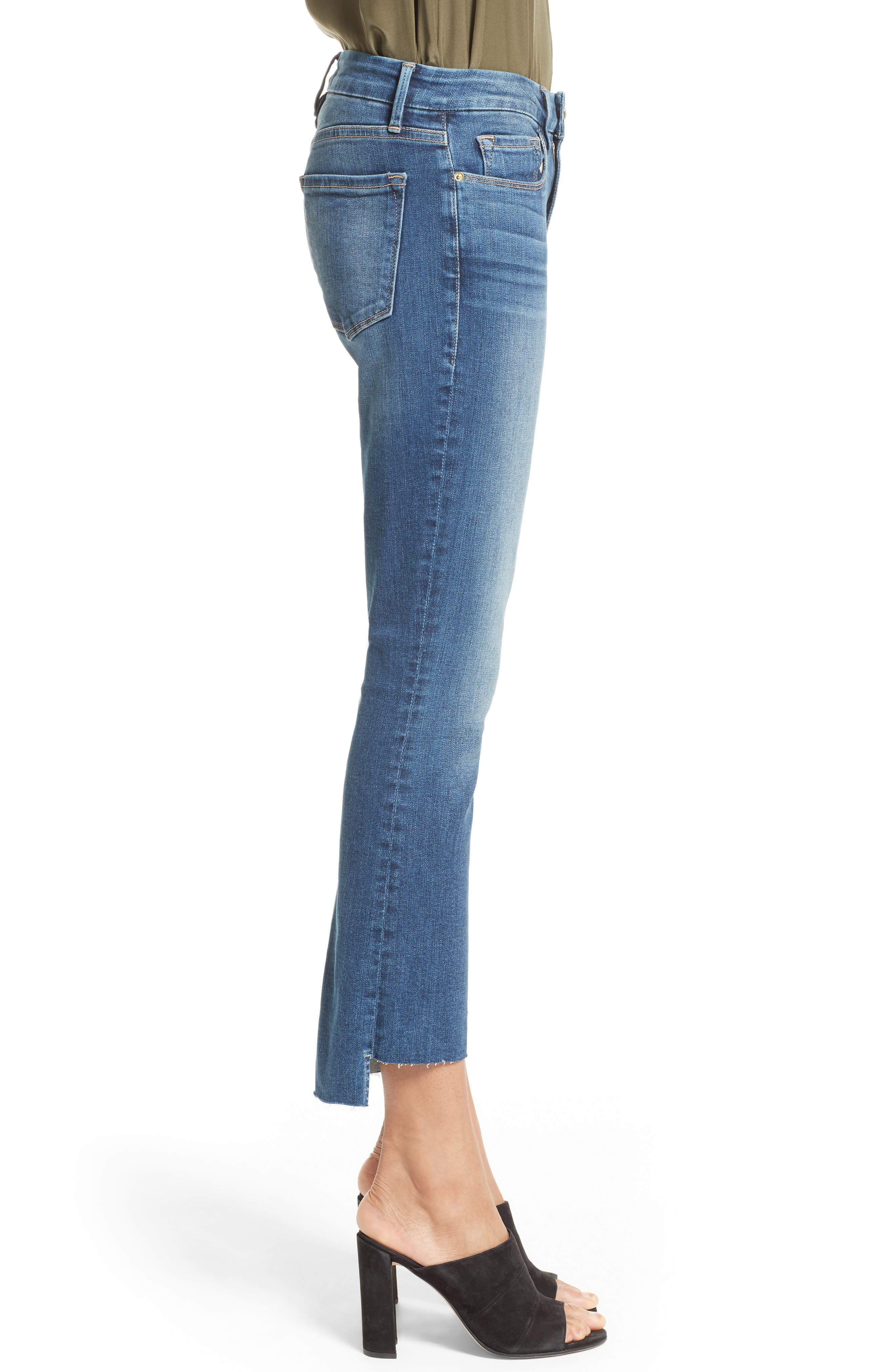 Alternate Image 3  - FRAME Le Crop Mini Boot Stagger Hem Jeans (Clifton) (Nordstrom Exclusive)