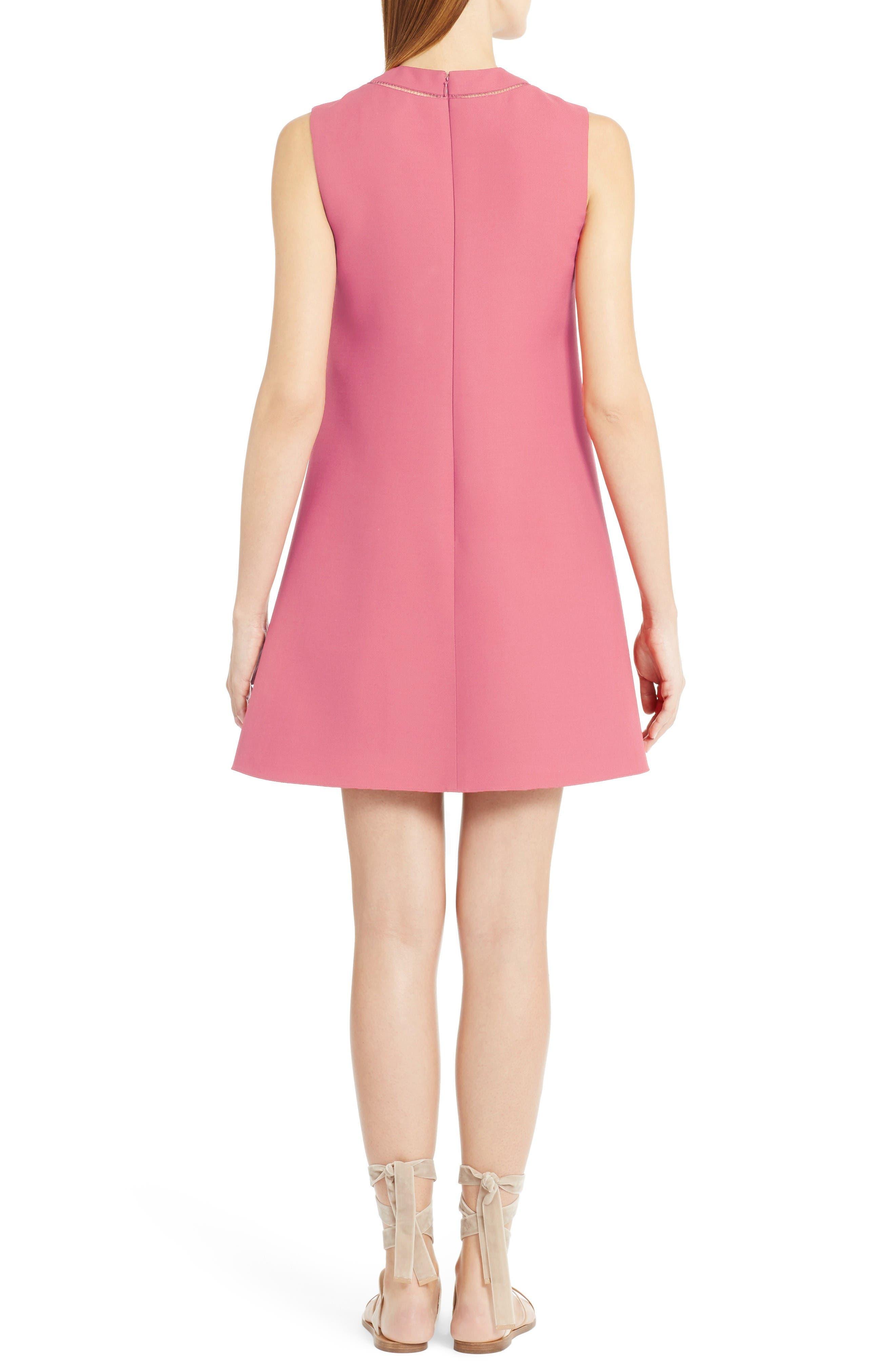Alternate Image 2  - Valentino Wool & Silk Crepe A-Line Dress