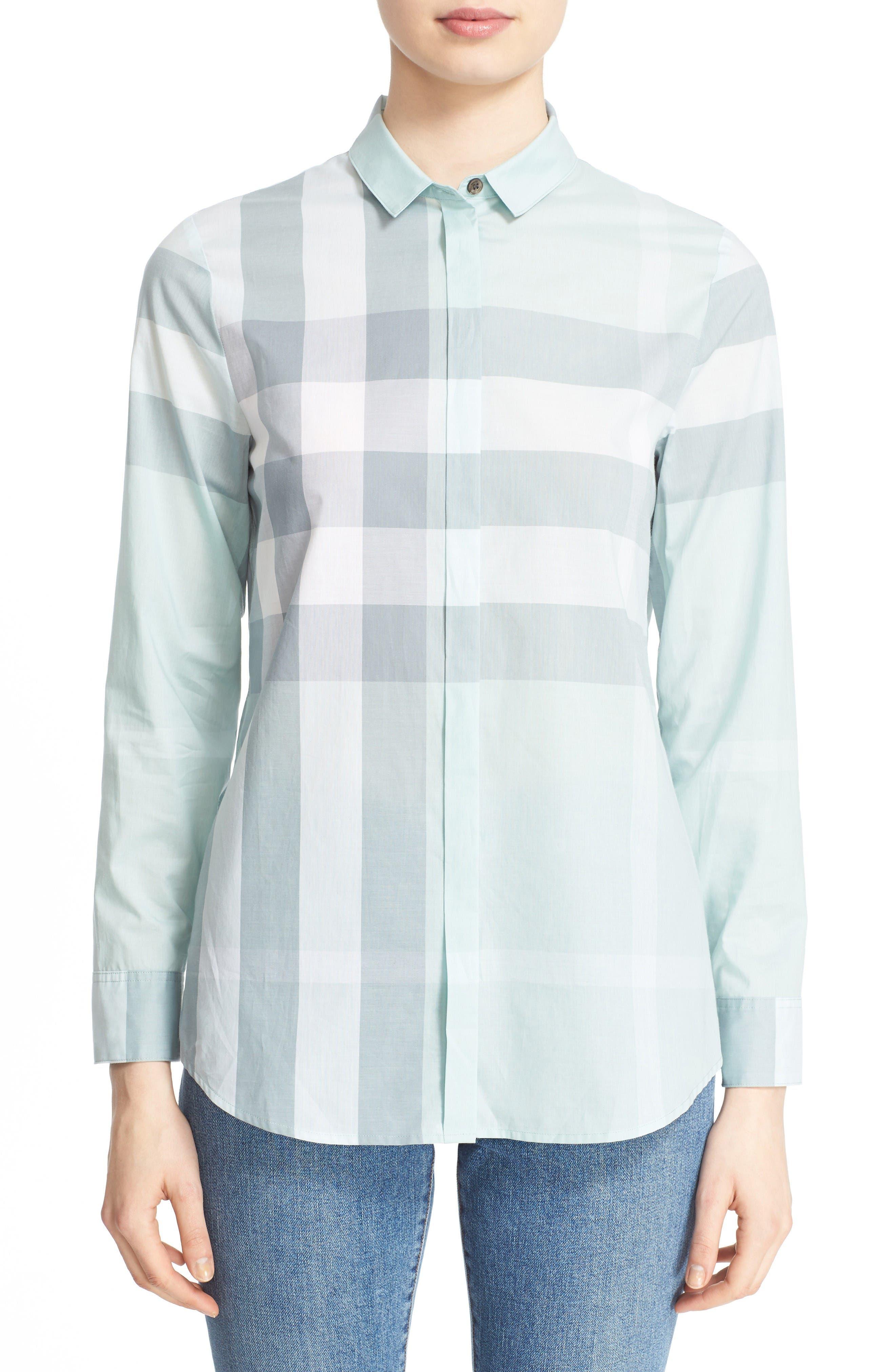 Alternate Image 1 Selected - Burberry Check Print Cotton Shirt