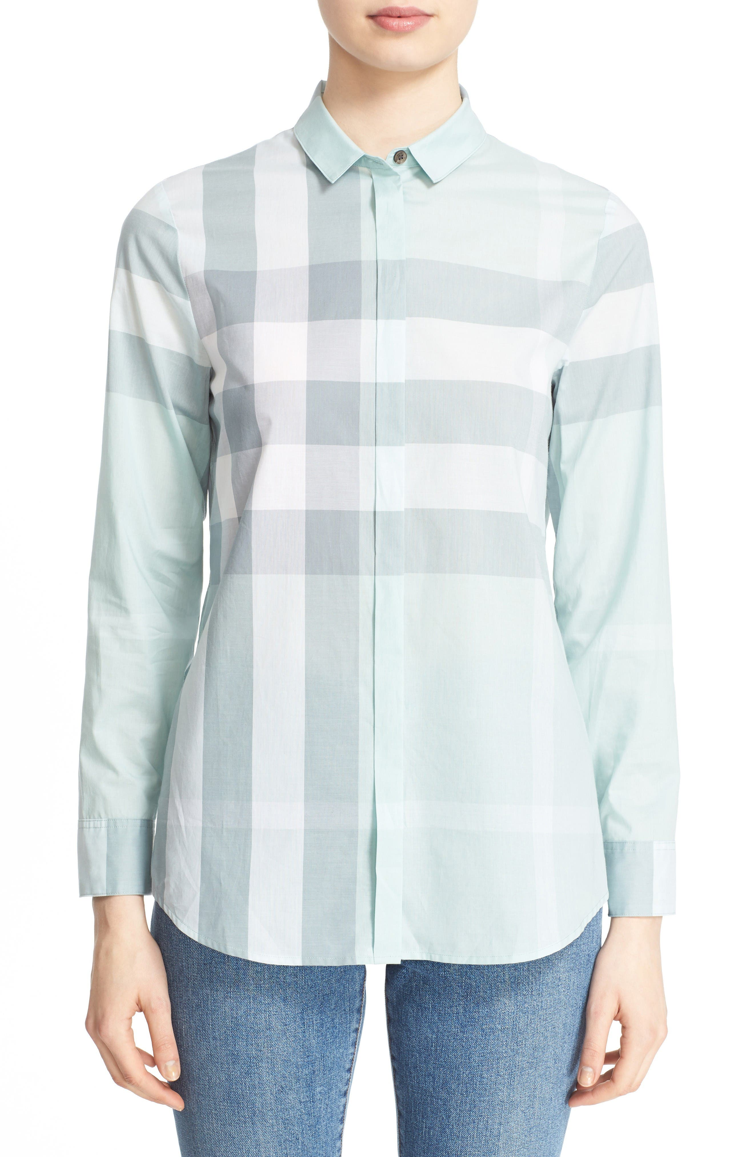 Burberry Check Print Cotton Shirt