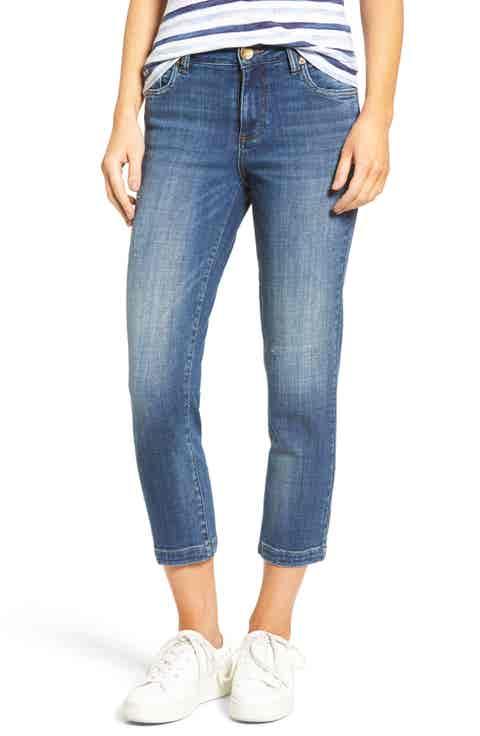 Kut from the Kloth Lauren High Waist Stretch Crop Jeans (Entrusted) (Regular   Petite)