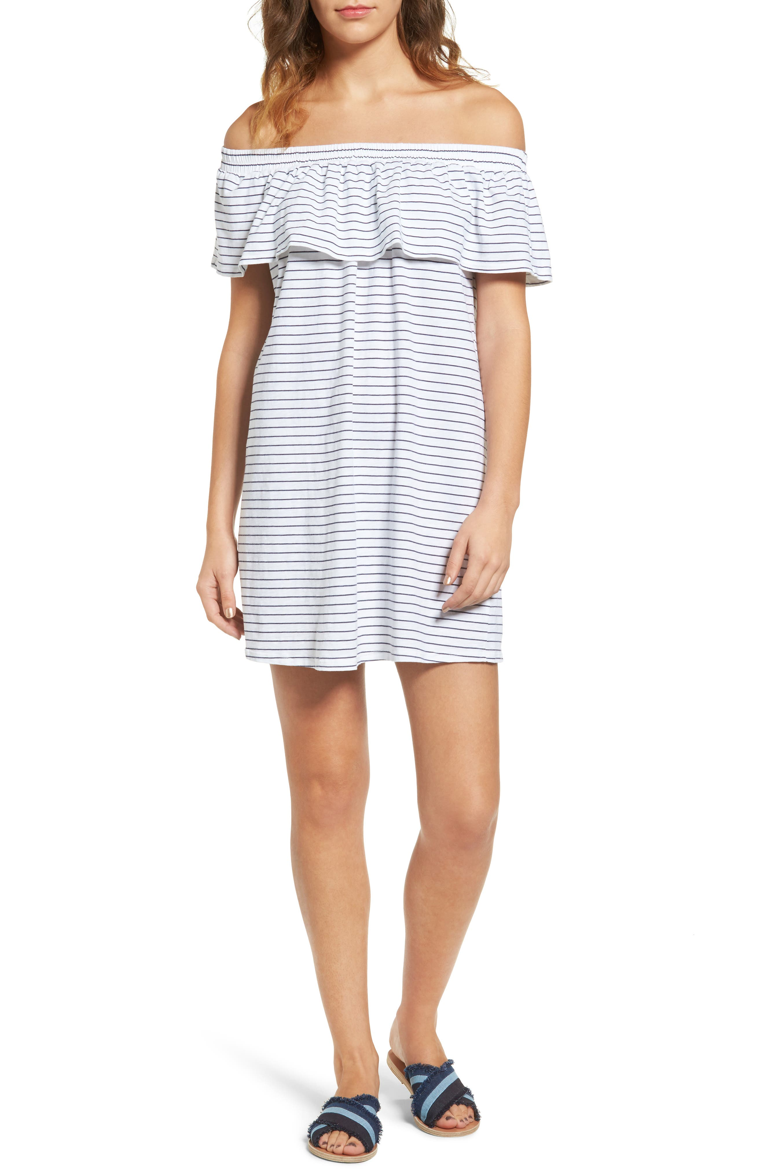 Alternate Image 1 Selected - Sundry Ruffle Off the Shoulder Dress