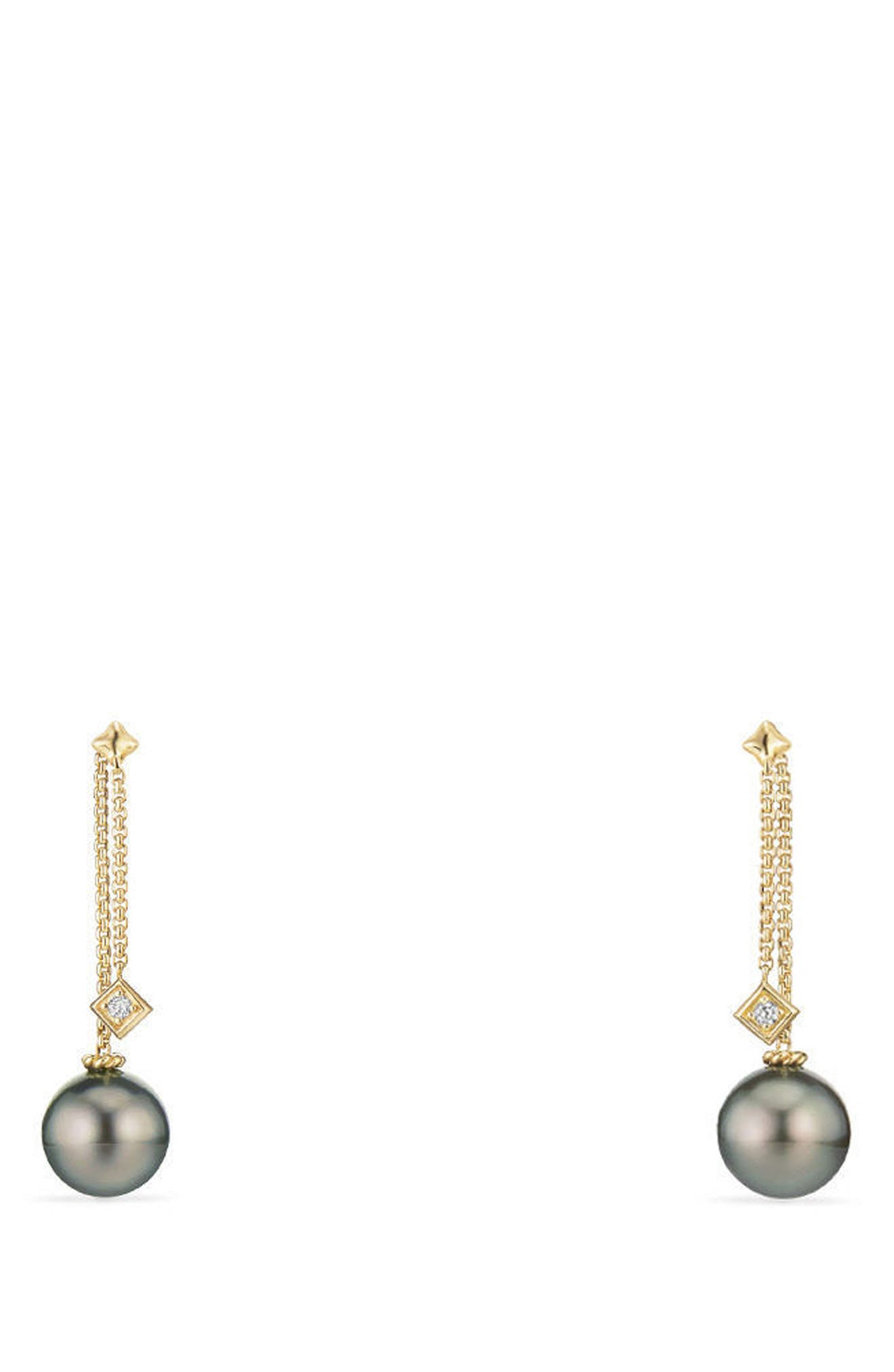 David Yurman Solari Earrings with Diamonds in 18K Gold