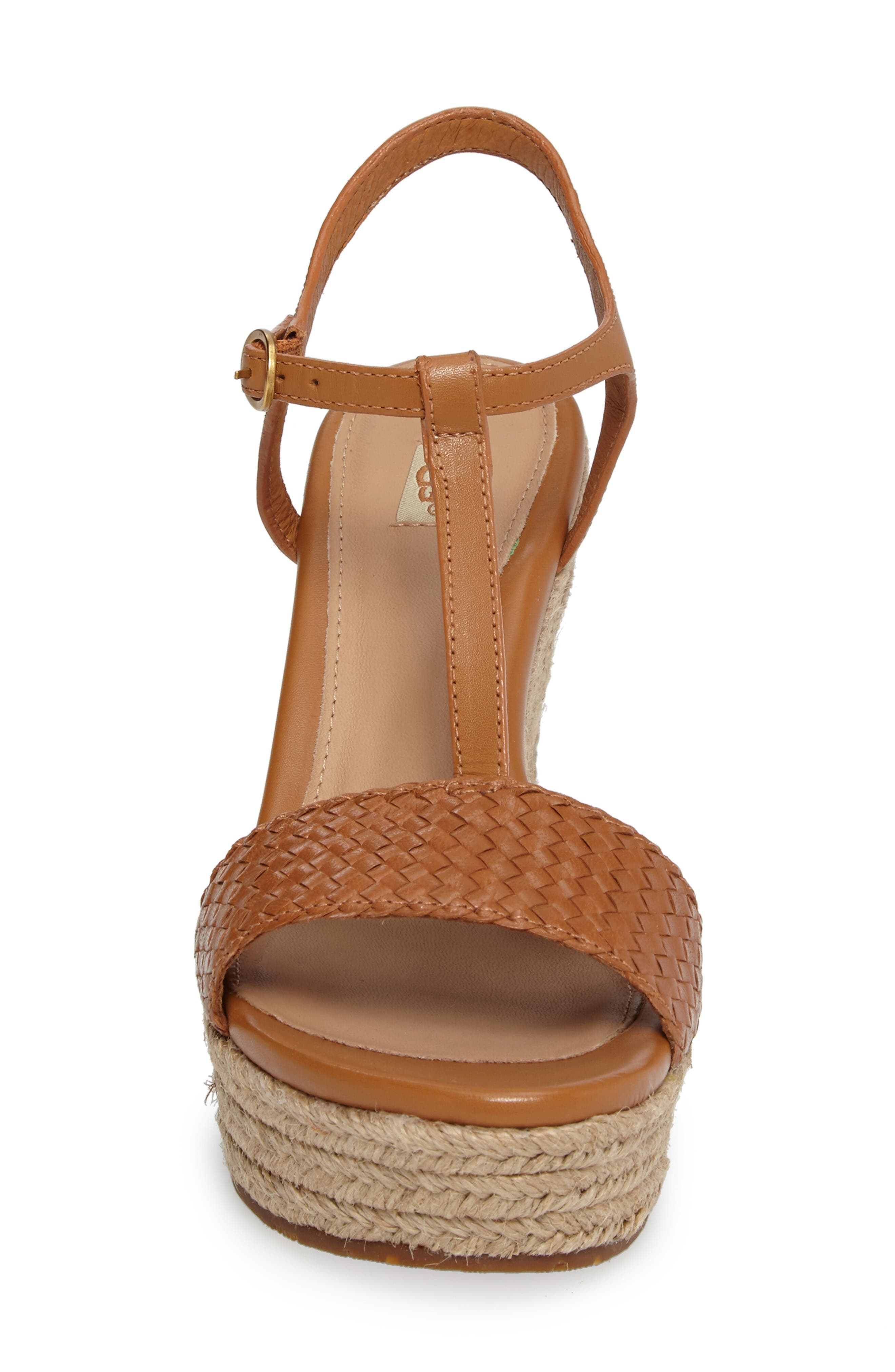 Alternate Image 4  - UGG® Fitchie II Espadrille Wedge Sandal (Women)