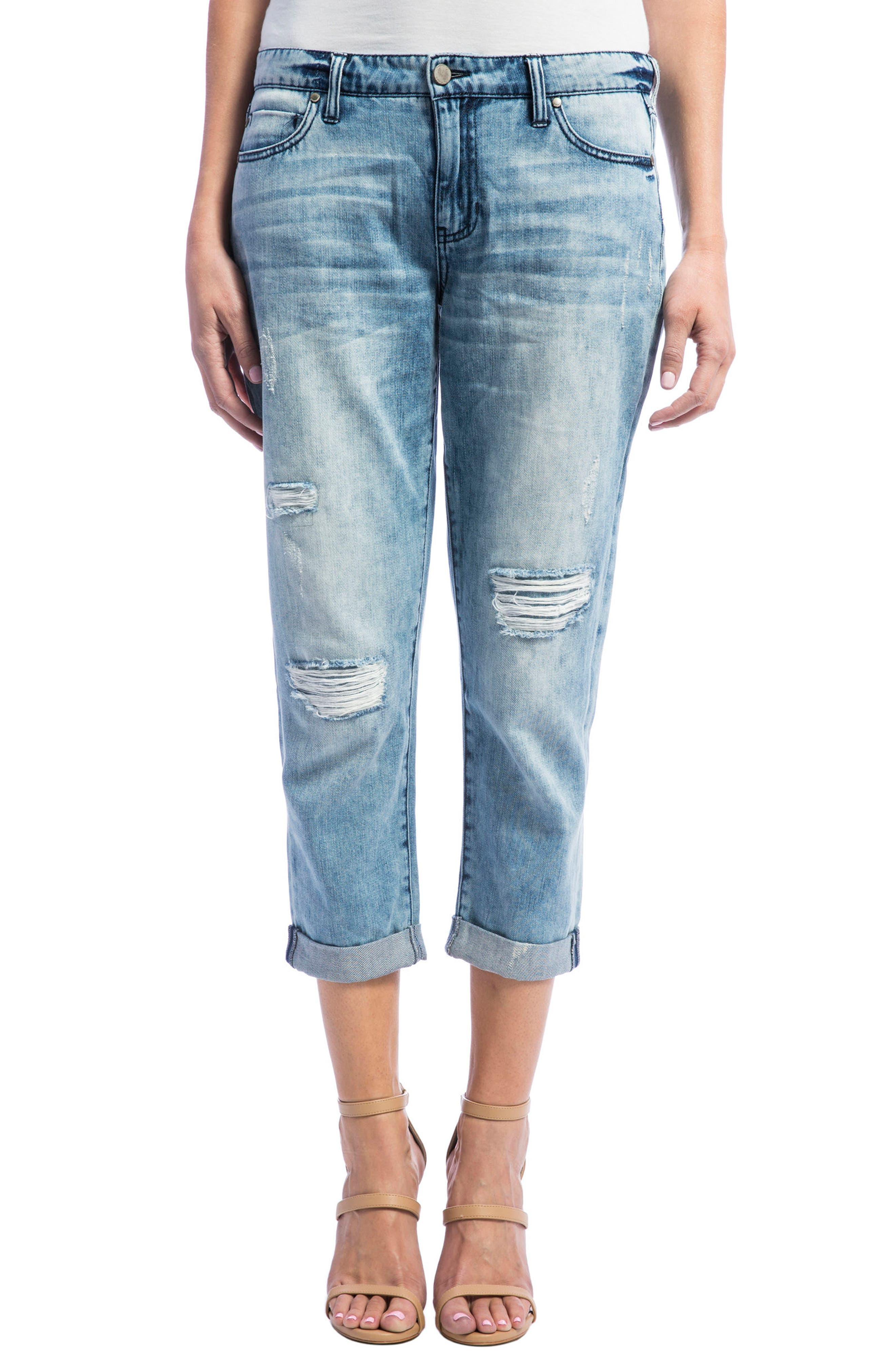 Liverpool Jeans Company Cameron Stretch Crop Boyfriend Jeans