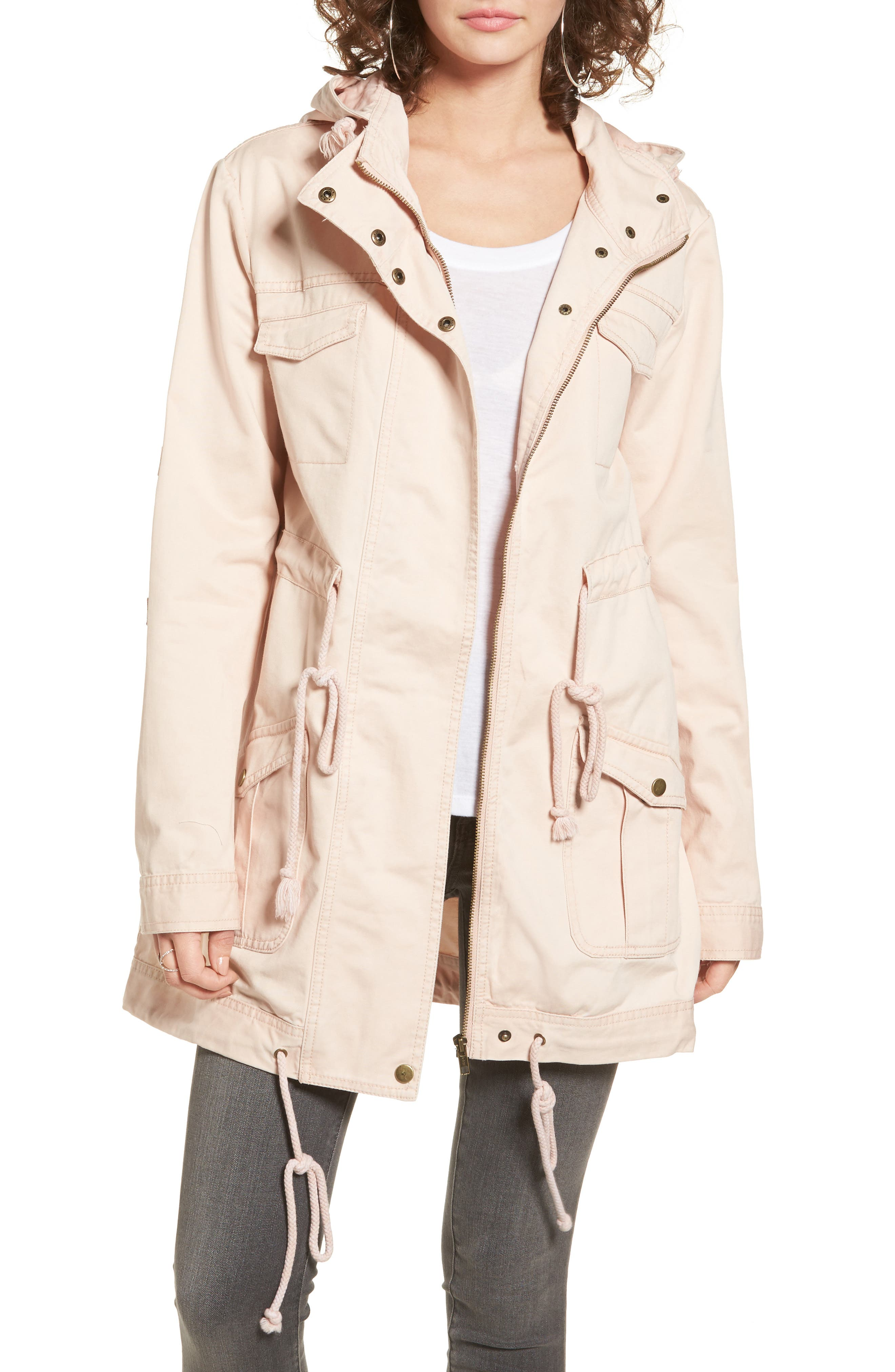 Somedays Lovin 'Carmen' Lace-Up Back Cotton Twill Parka