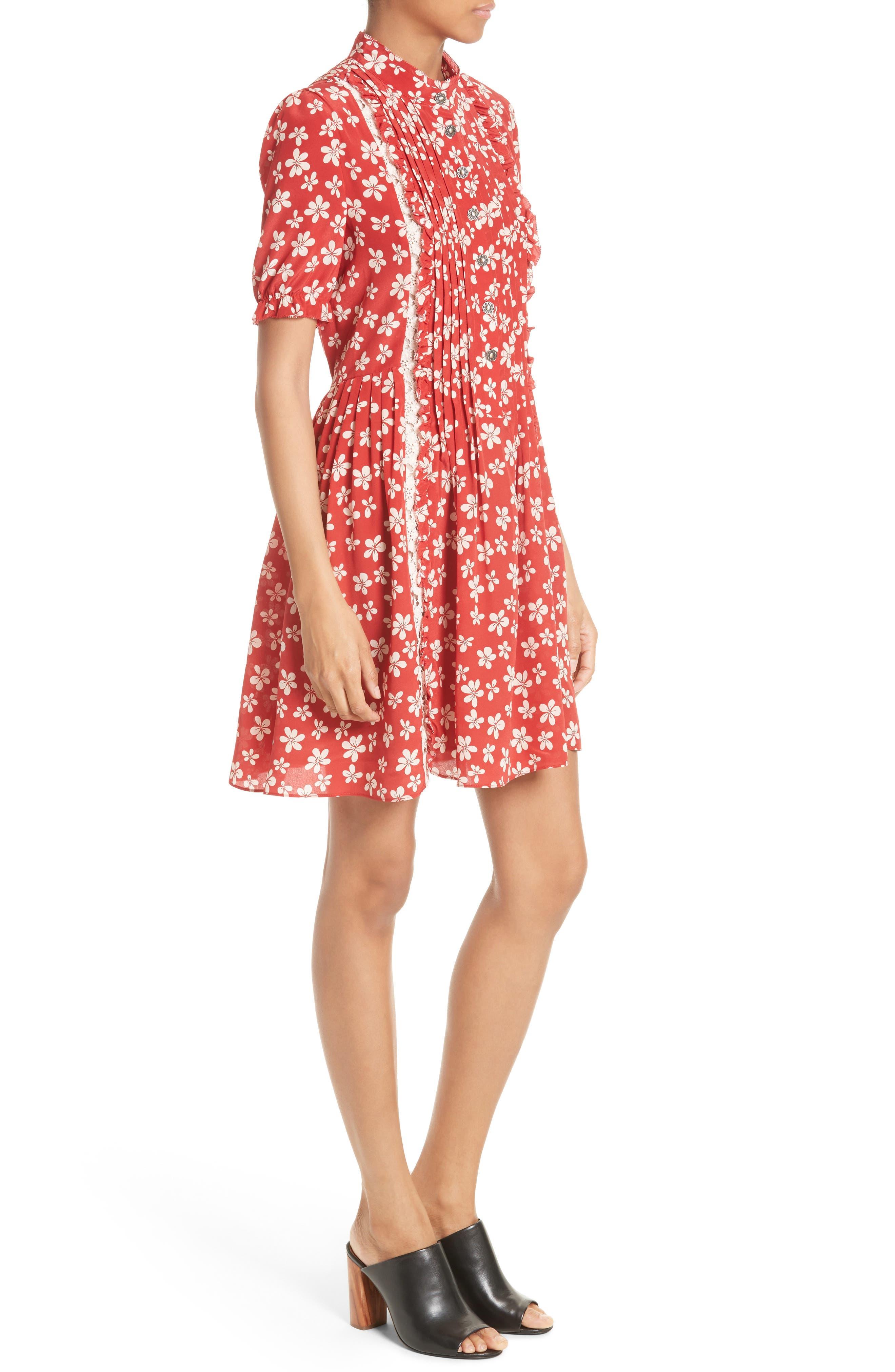Alternate Image 3  - The Kooples Floral Print Silk Dress