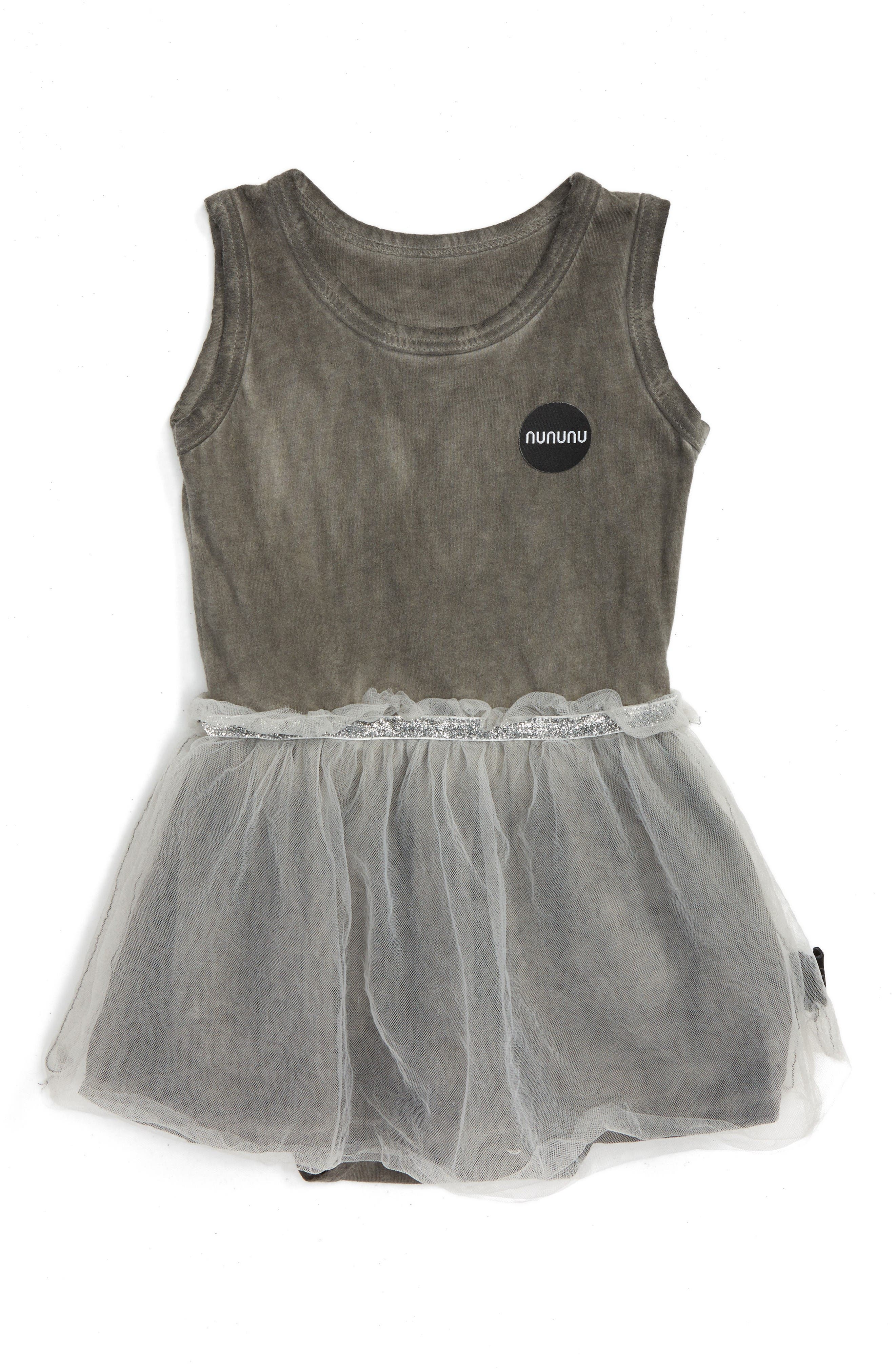 NUNUNU Sleeveless Tulle Bodysuit (Baby Girls)