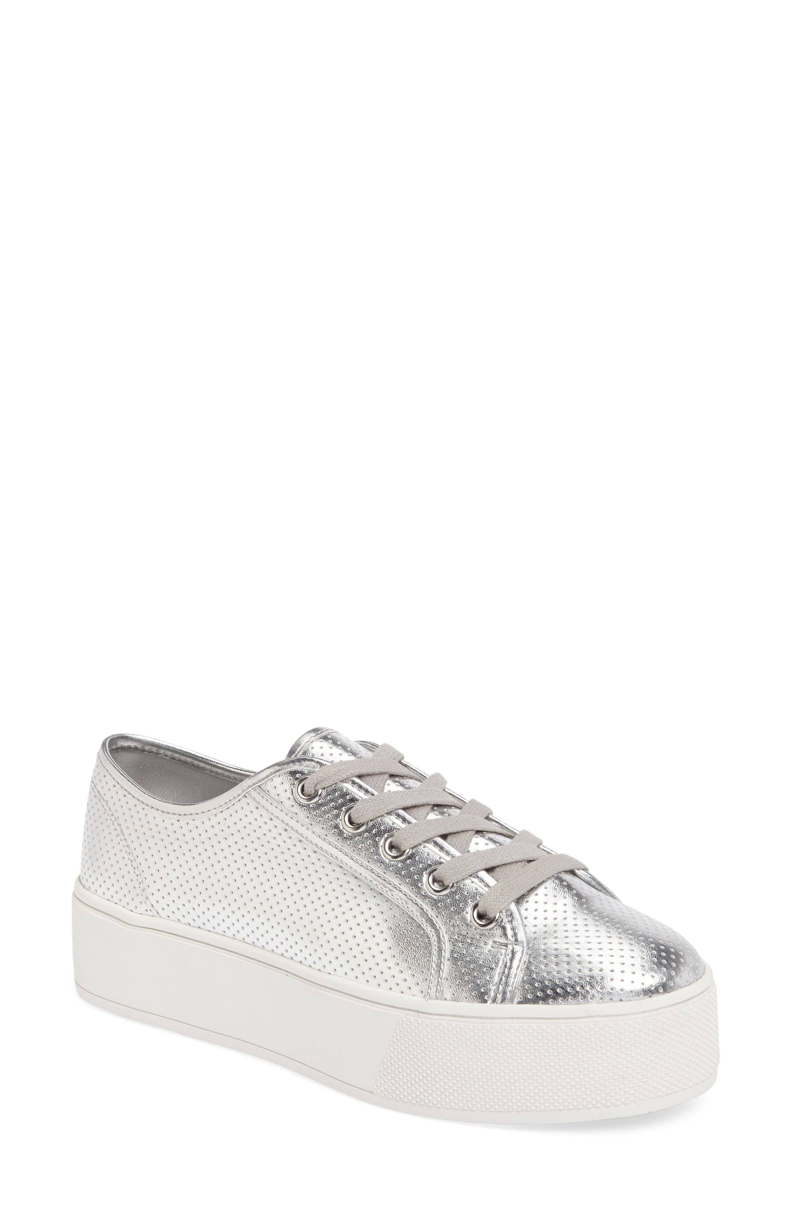 Steve Madden Future Perforated Platform Sneaker (Women)