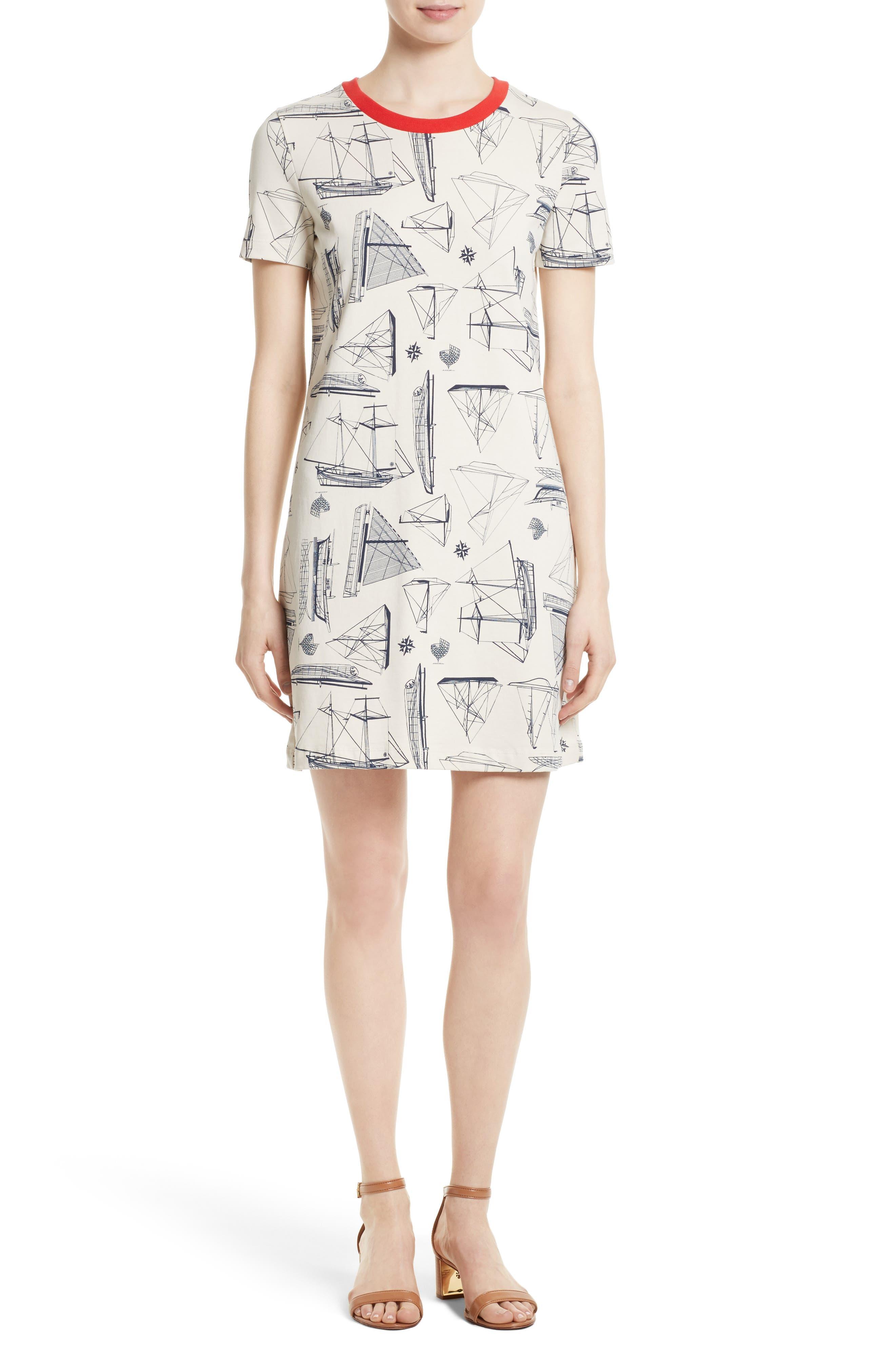 Tory Burch Adrift Print T-Shirt Dress