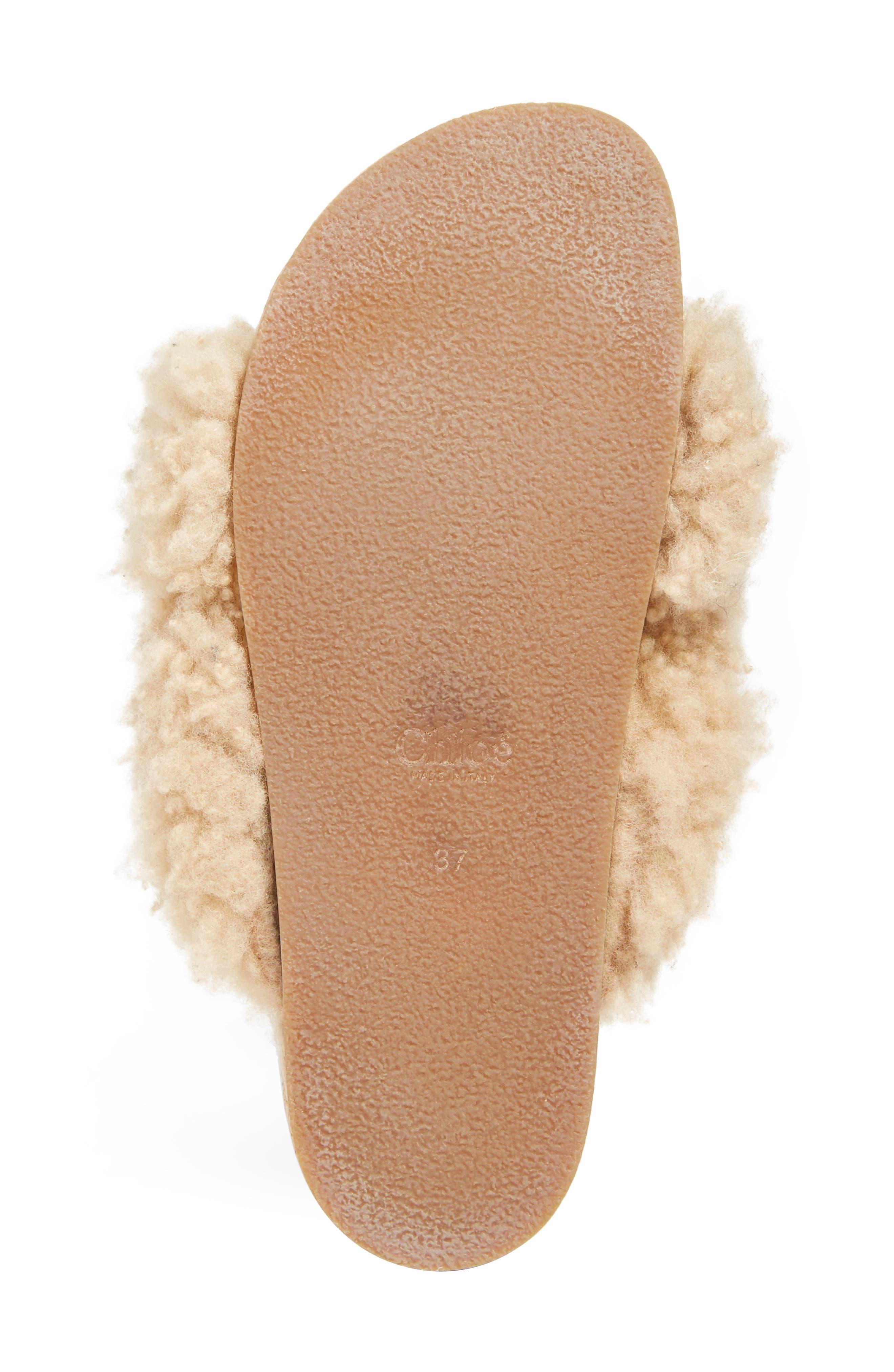 Alternate Image 6  - Chloé Kerenn Genuine Shearling Sandal (Women)