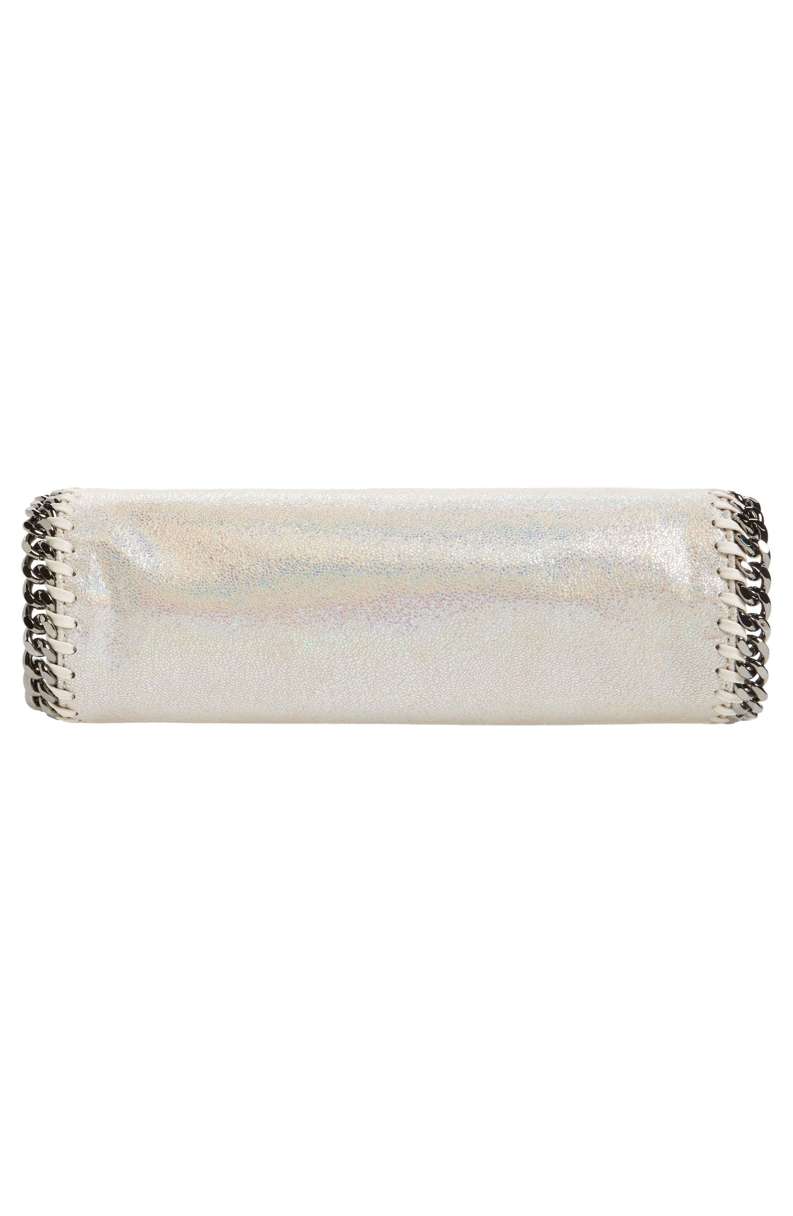 Alternate Image 6  - Stella McCartney Mini Falabella - Holograph Faux Leather Crossbody Bag