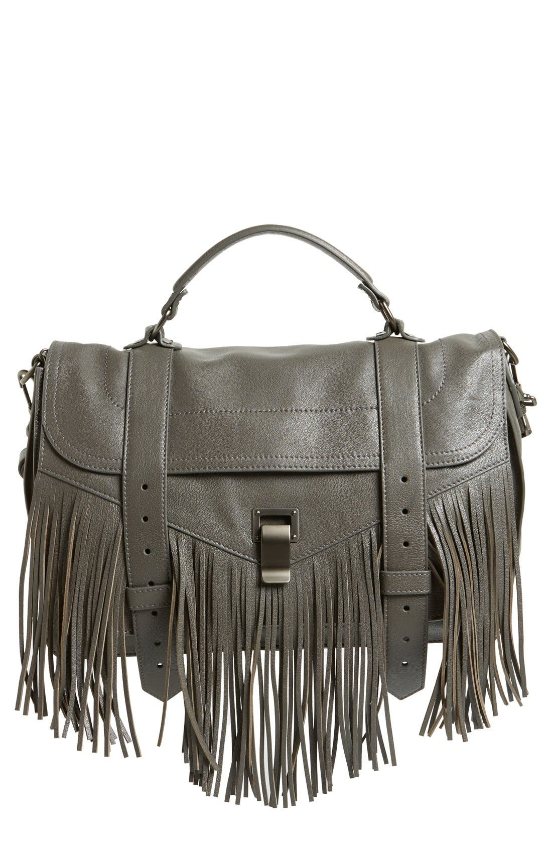 Alternate Image 1 Selected - Proenza Schouler 'Medium PS1' Fringed Leather Satchel