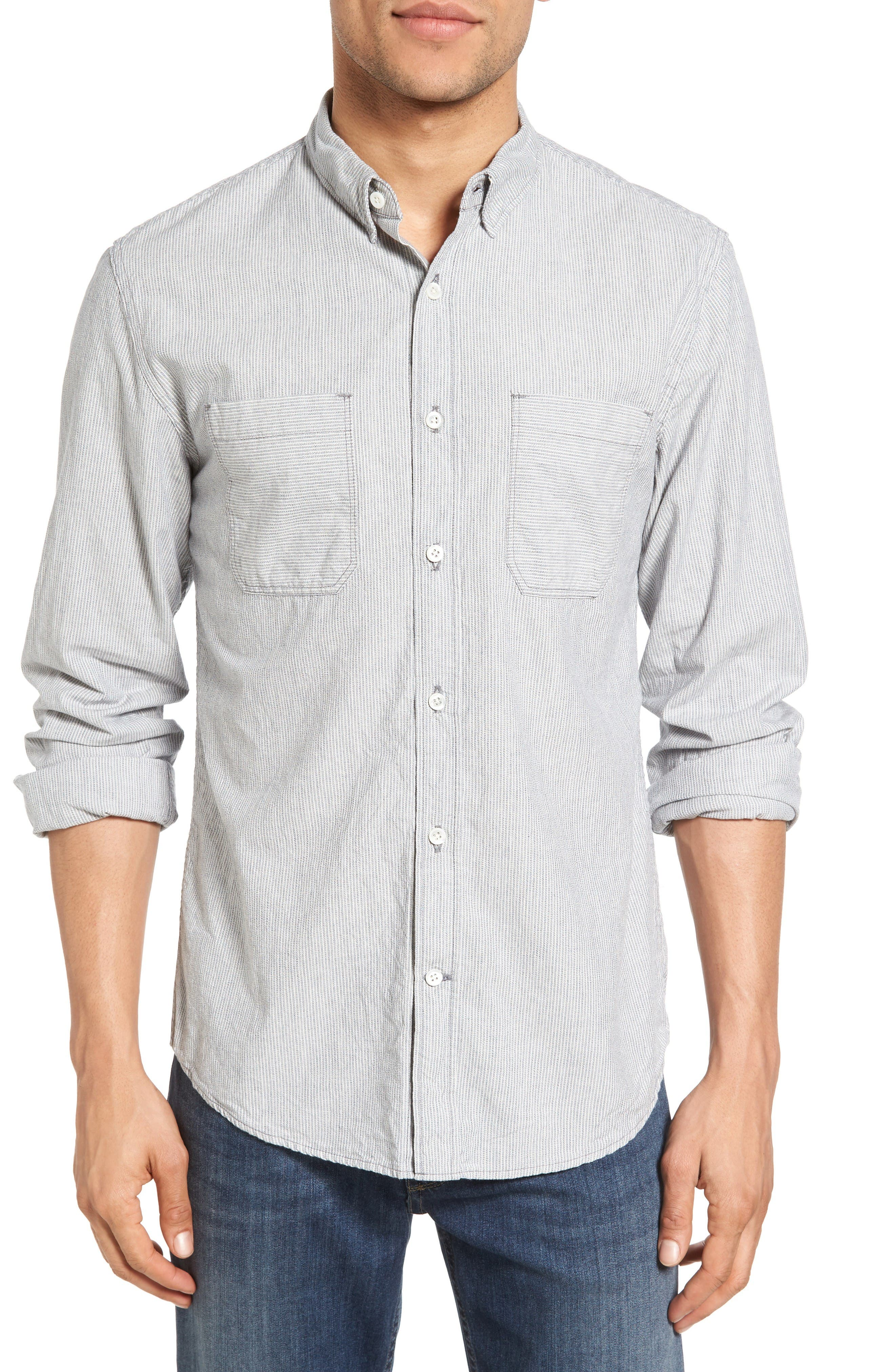 Billy Reid Randall Selvedge Denim Sport Shirt