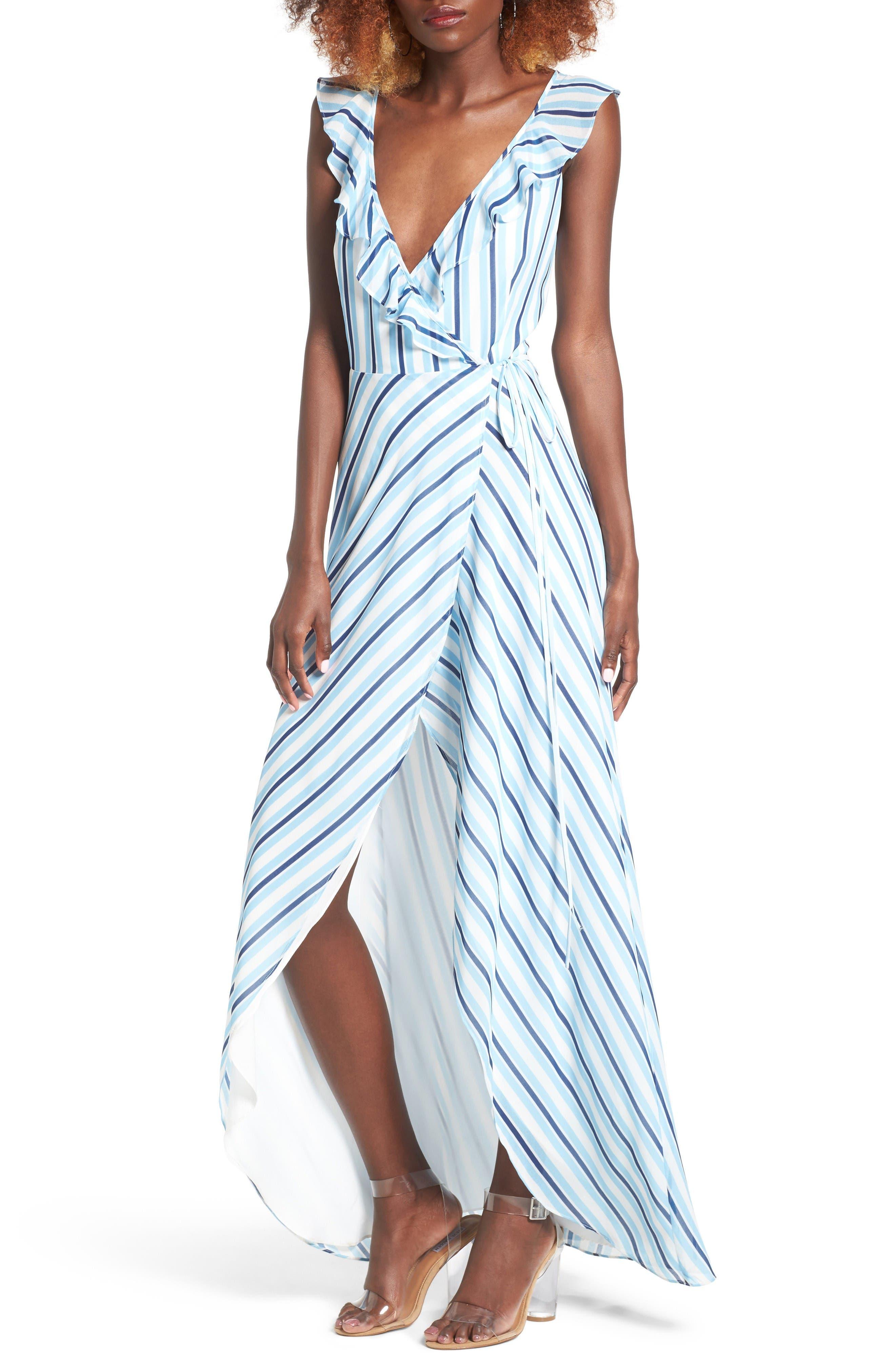 Privacy Please Fillmore Wrap Maxi Dress