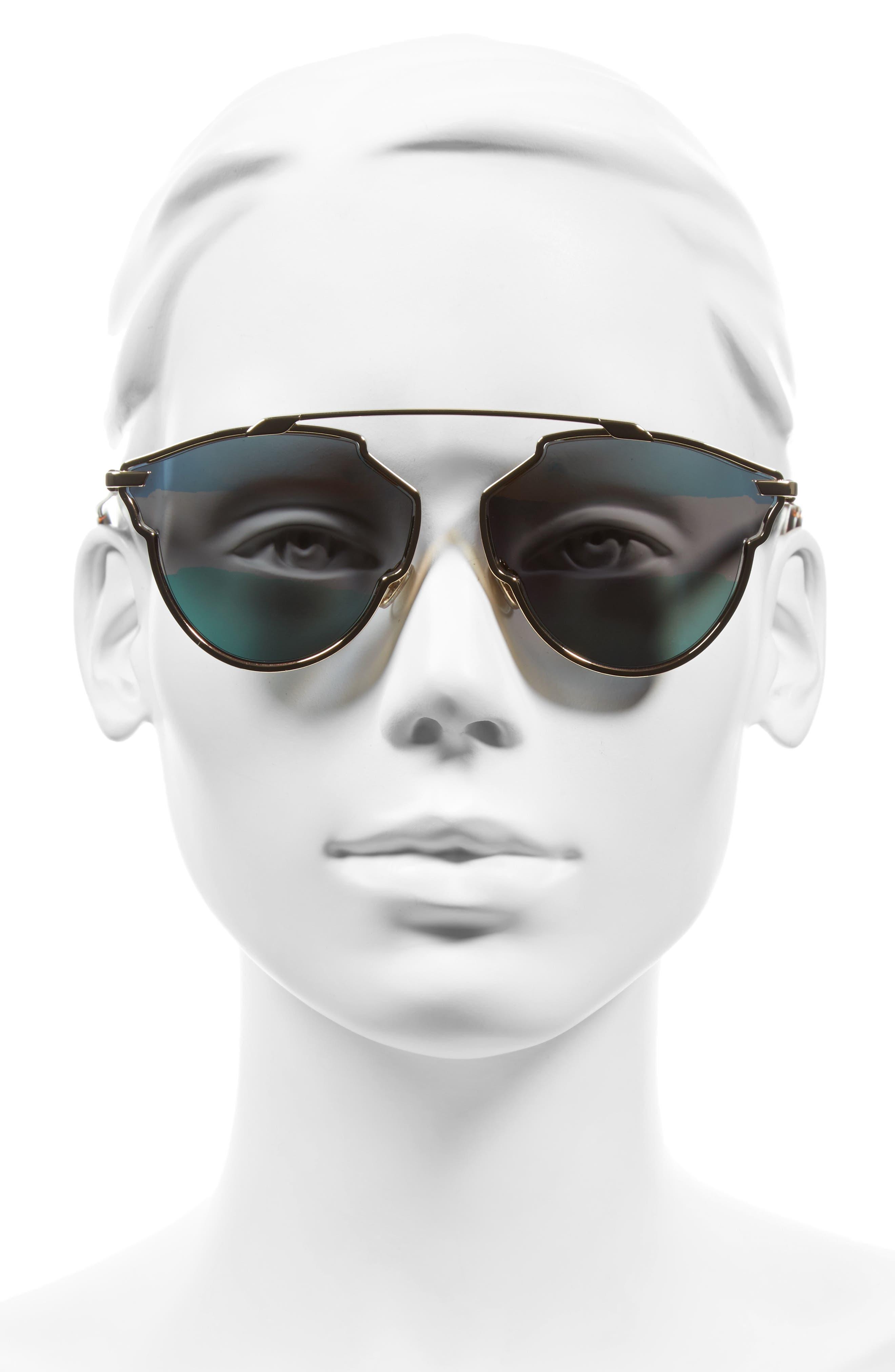 Alternate Image 2  - Dior So Real 59mm Brow Bar Sunglasses