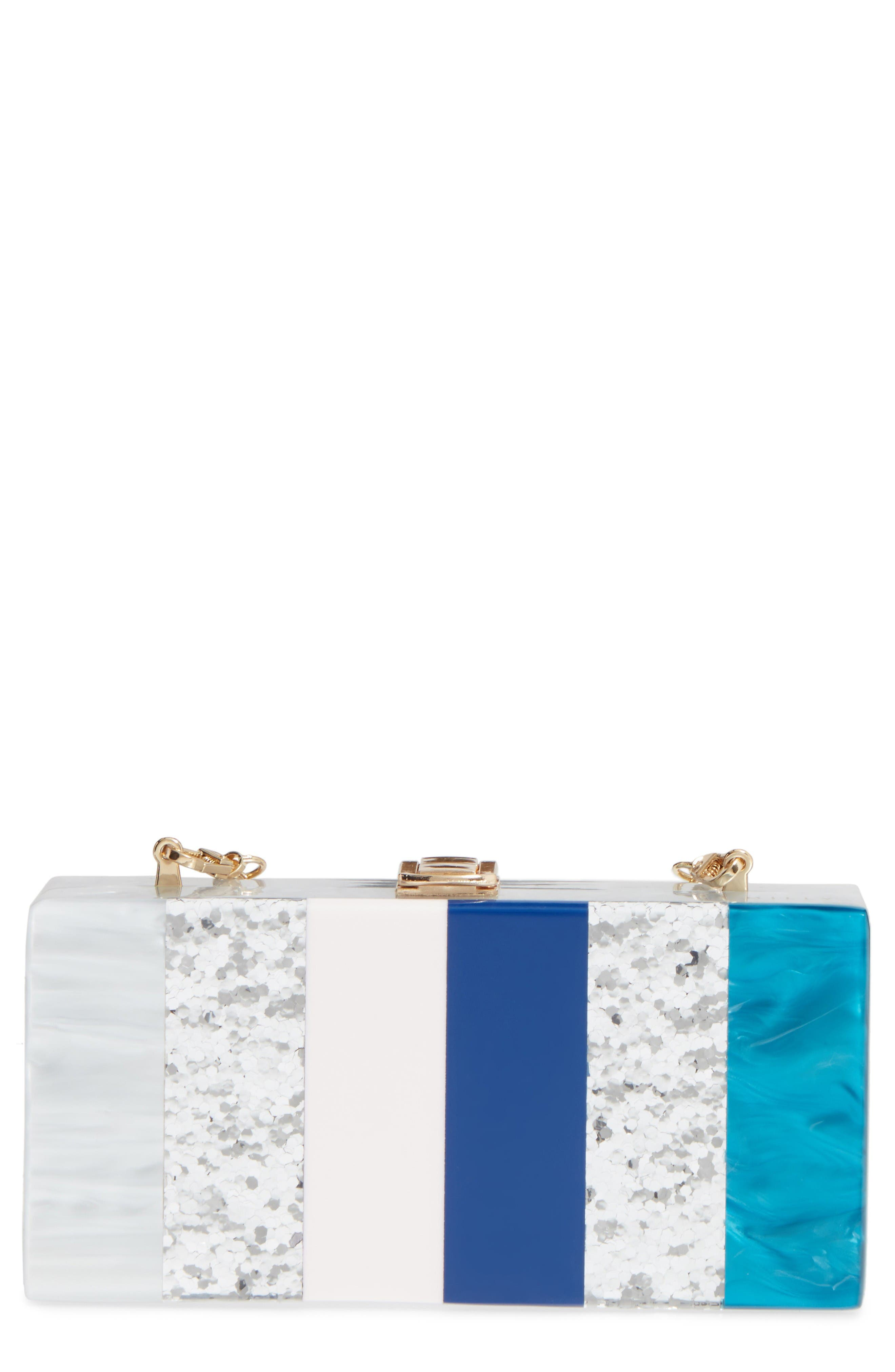 Alternate Image 1 Selected - Milly Stripe Box Clutch