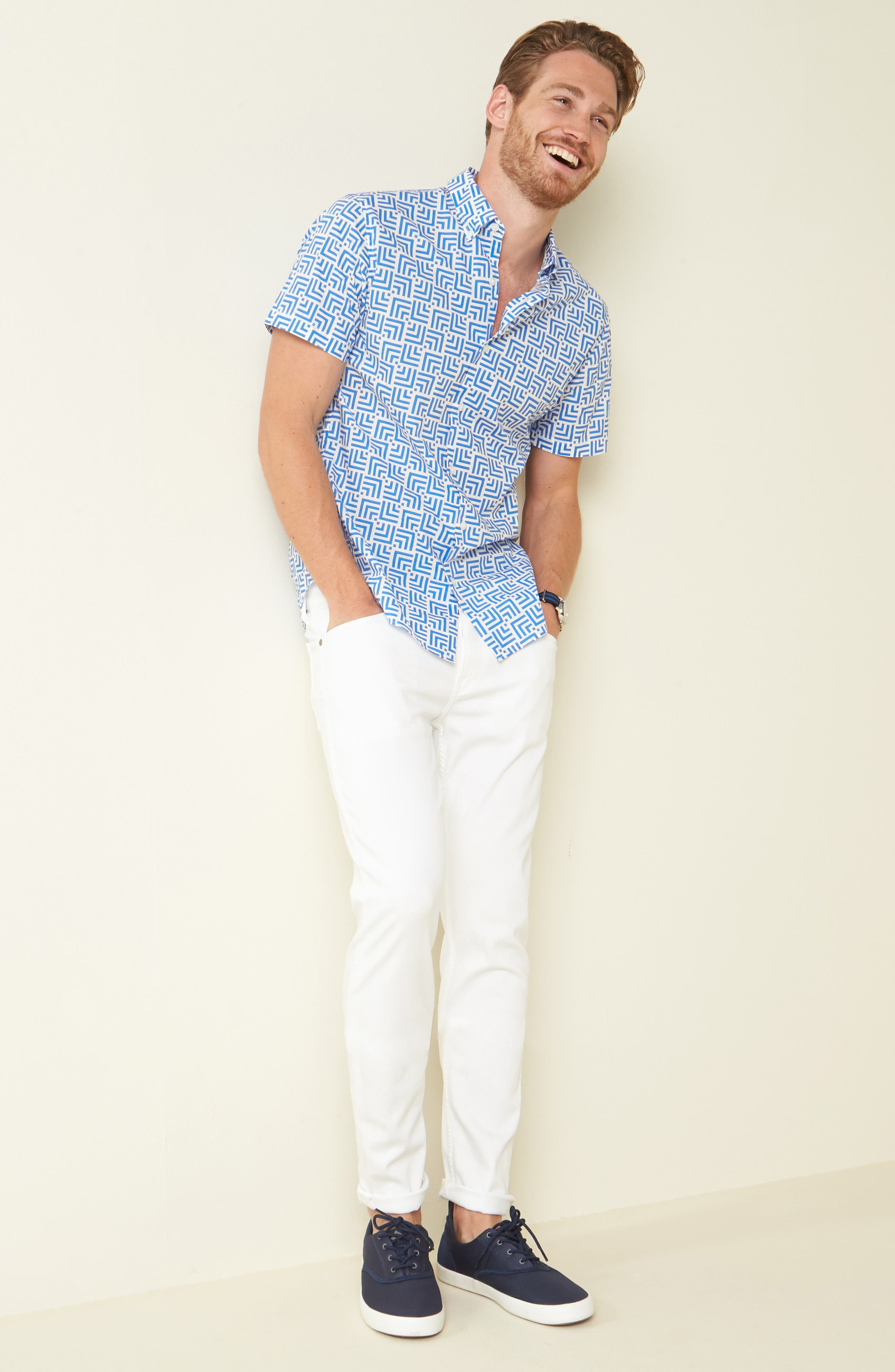 Alternate Image 7  - PAIGE Lennox TRANSCEND Slim Fit Jeans (Icecap)