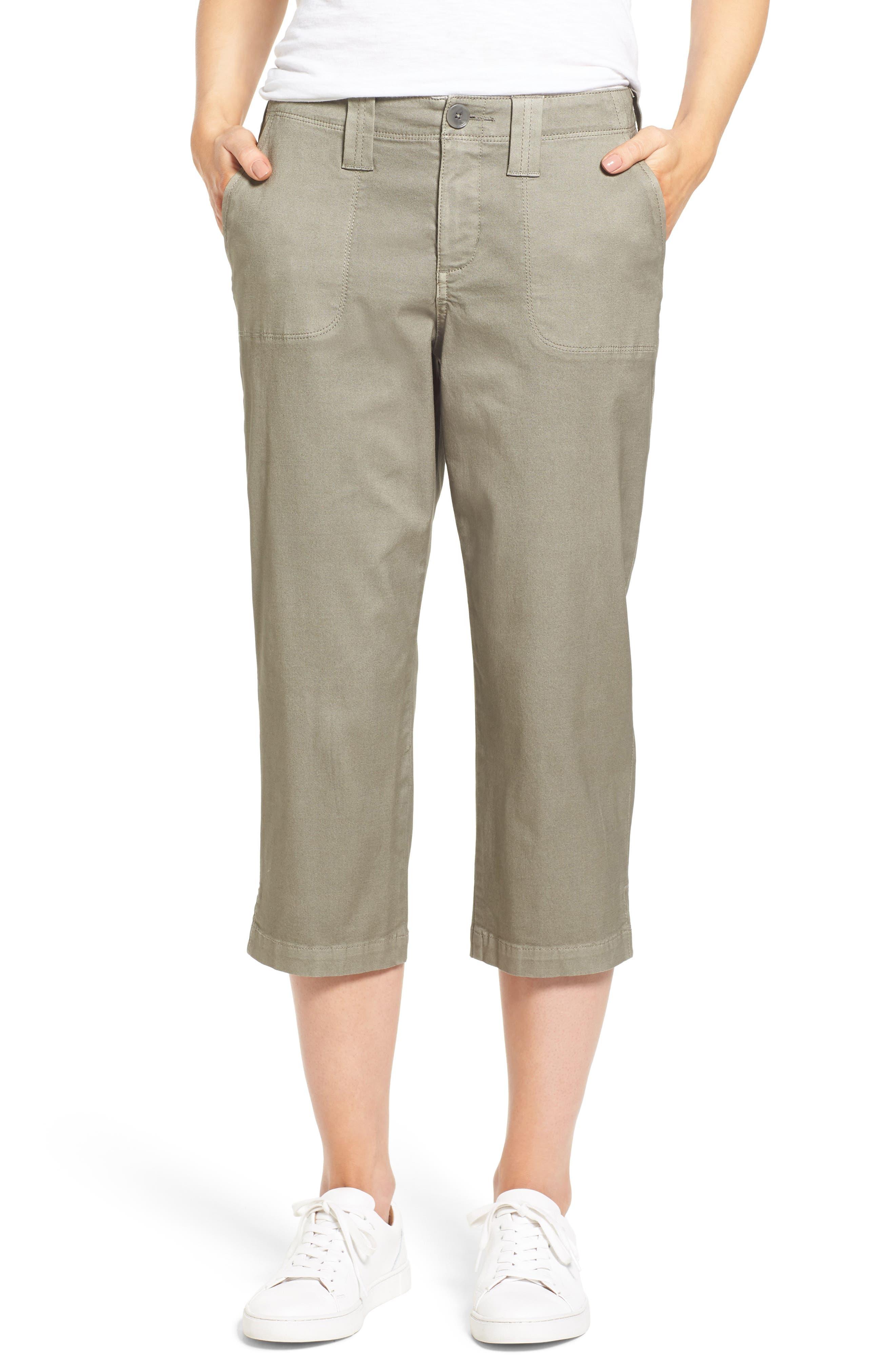 NYDJ Stretch Cotton Crop Pants (Regular & Petite)