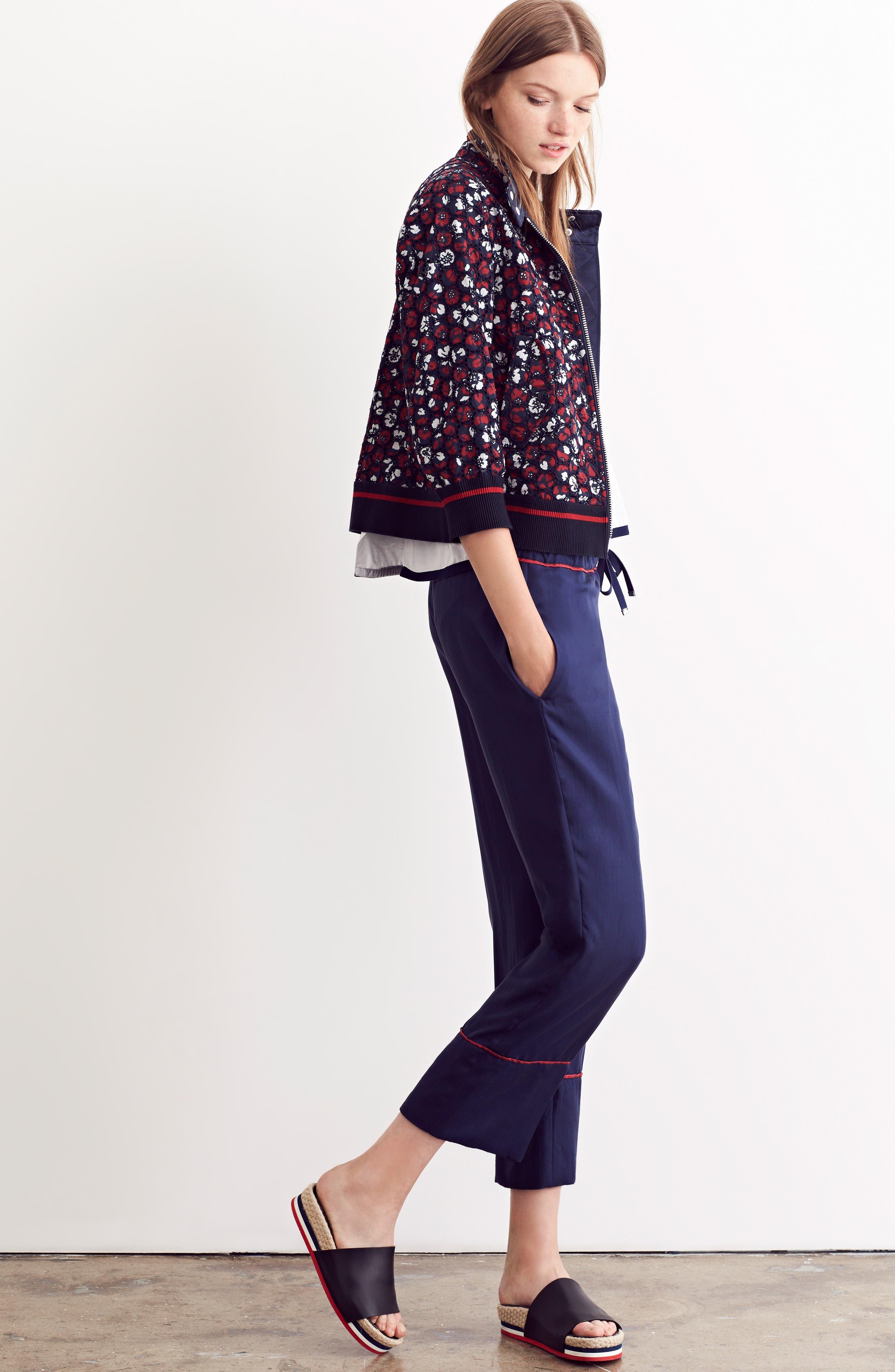 Alternate Image 8  - Moncler Fiadone Floral Eyelet Jacket