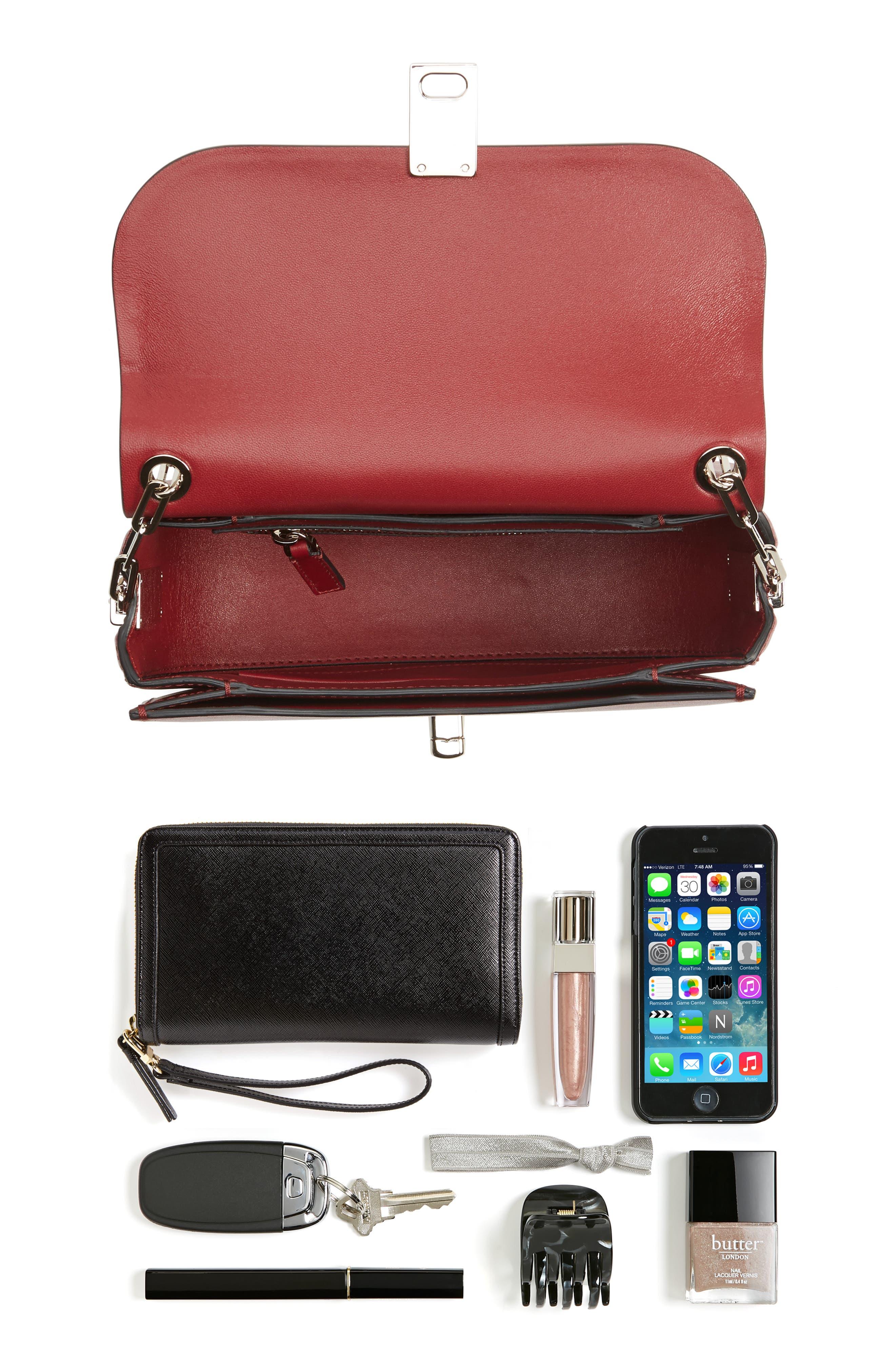 Alternate Image 3  - Valentino Love Blade Embroidered Calfskin Leather Shoulder Bag