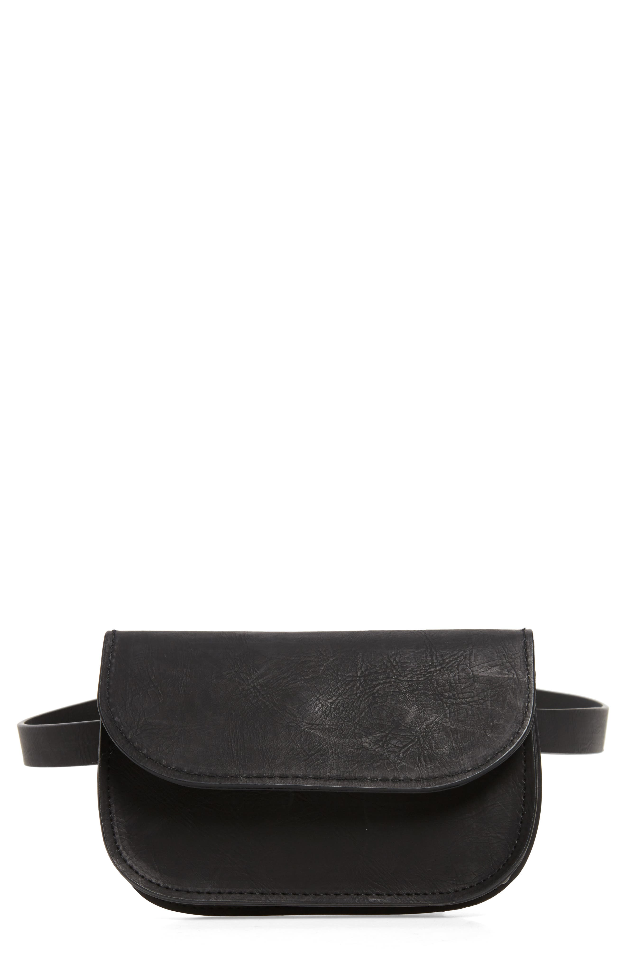 Main Image - Accessory Collective Faux Leather Belt Bag