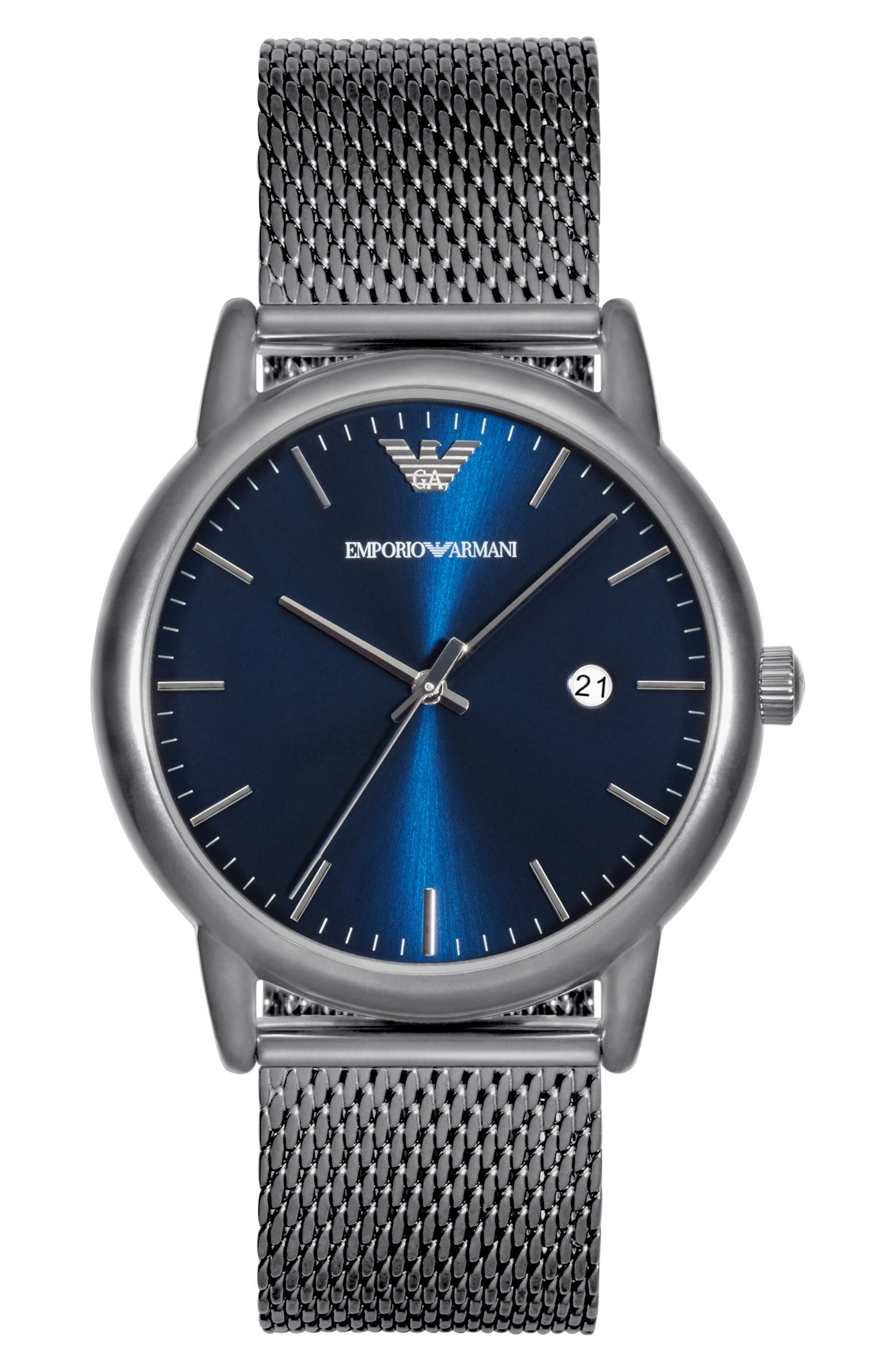 Emporio Armani Slim Mesh Strap Watch, 43mm