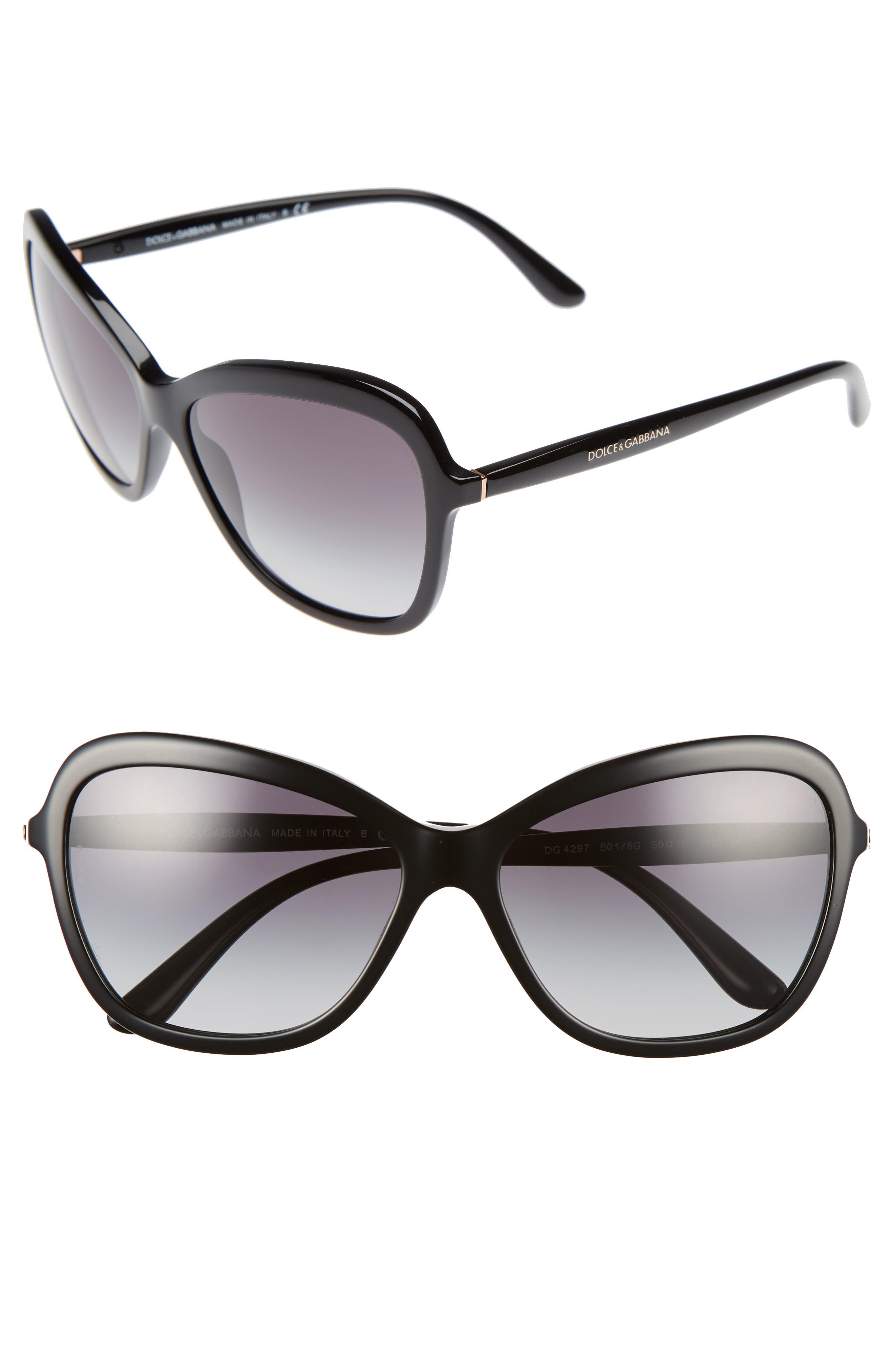 Dolce&Gabbana 59mm Gradient Butterfly Sunglasses