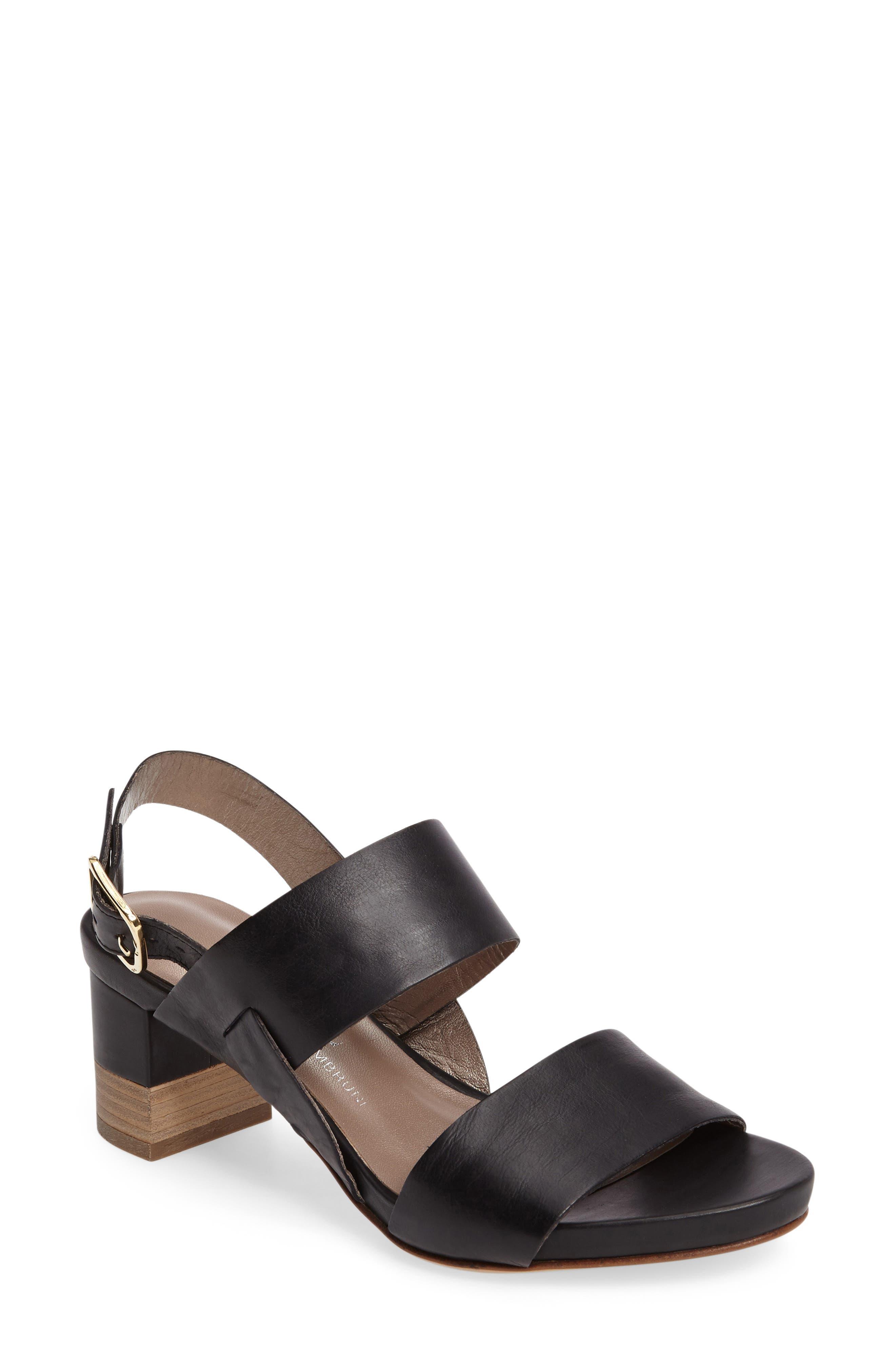 AGL Stacked Block Heel Sandal (Women)