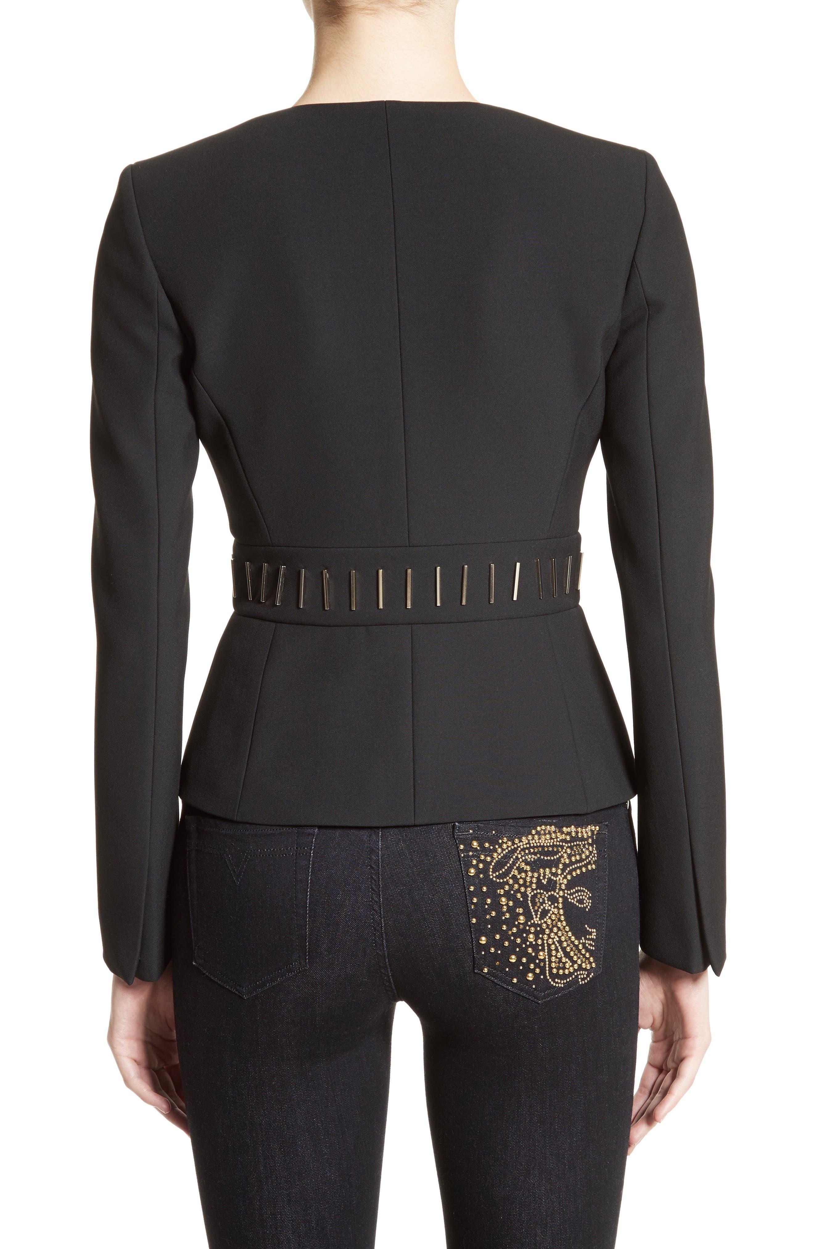 Alternate Image 2  - Versace Collection Bar Detail Cady Jacket