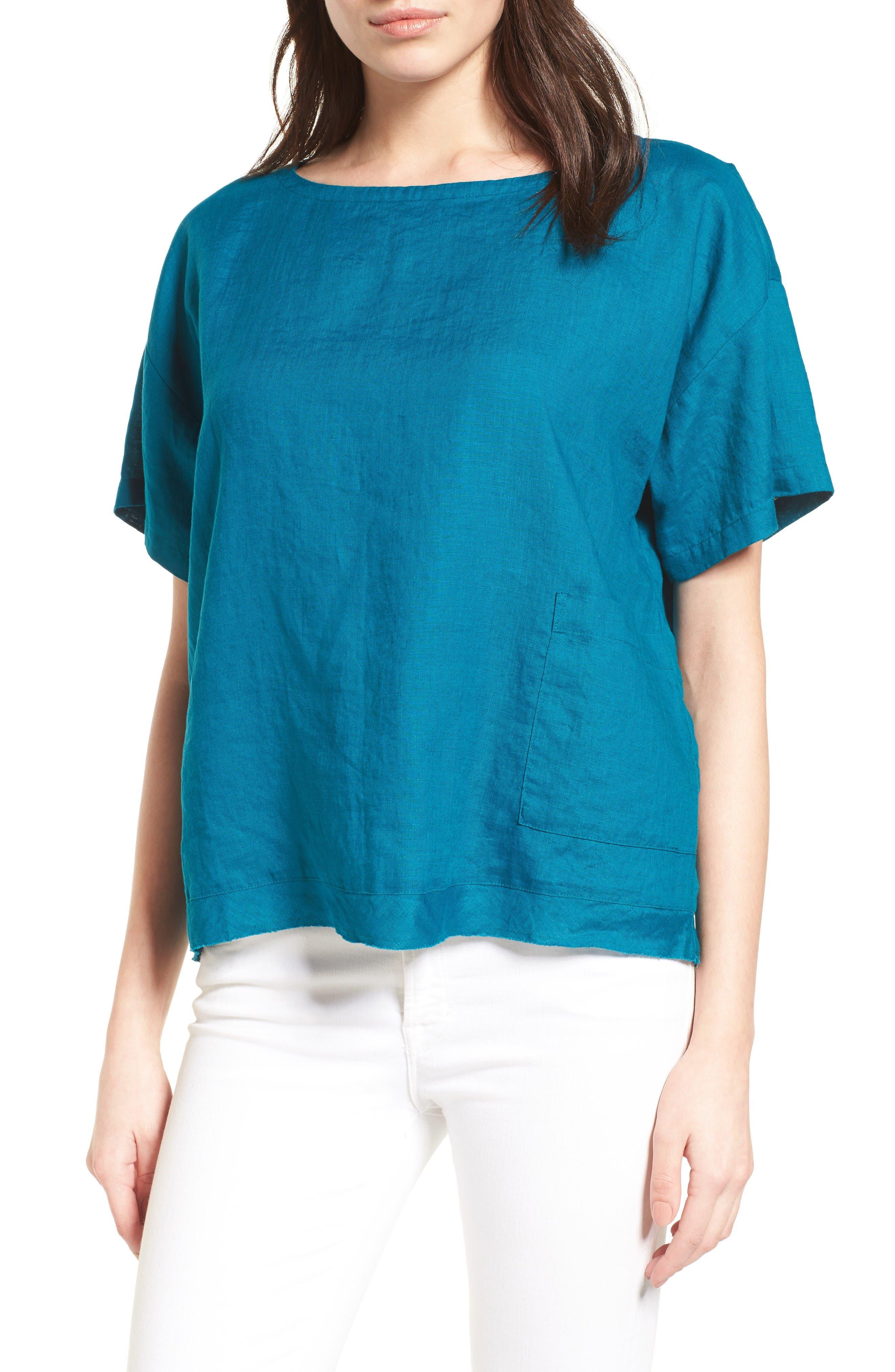Eileen Fisher Organic Linen Top (Regular & Petite)