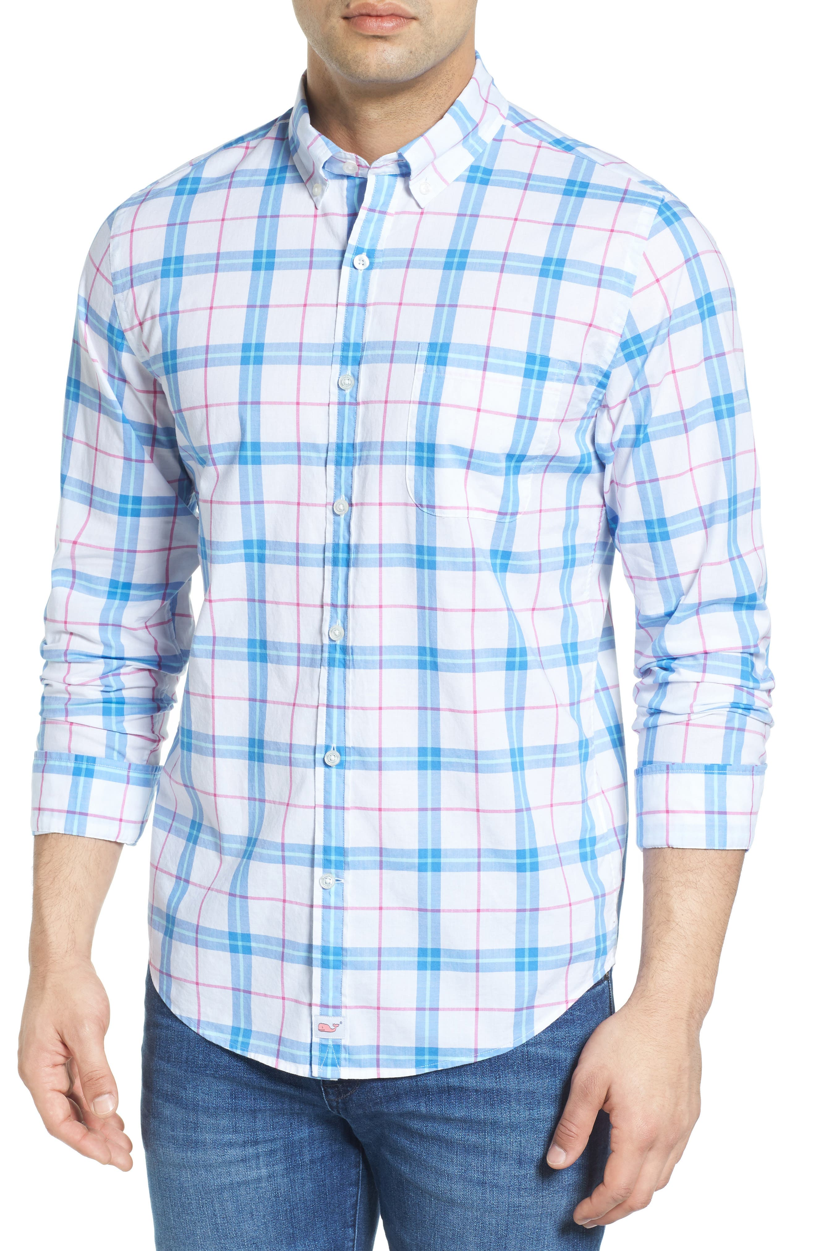 Vineyard Vines Tucker Marsara Plaid Slim Fit Sport Shirt