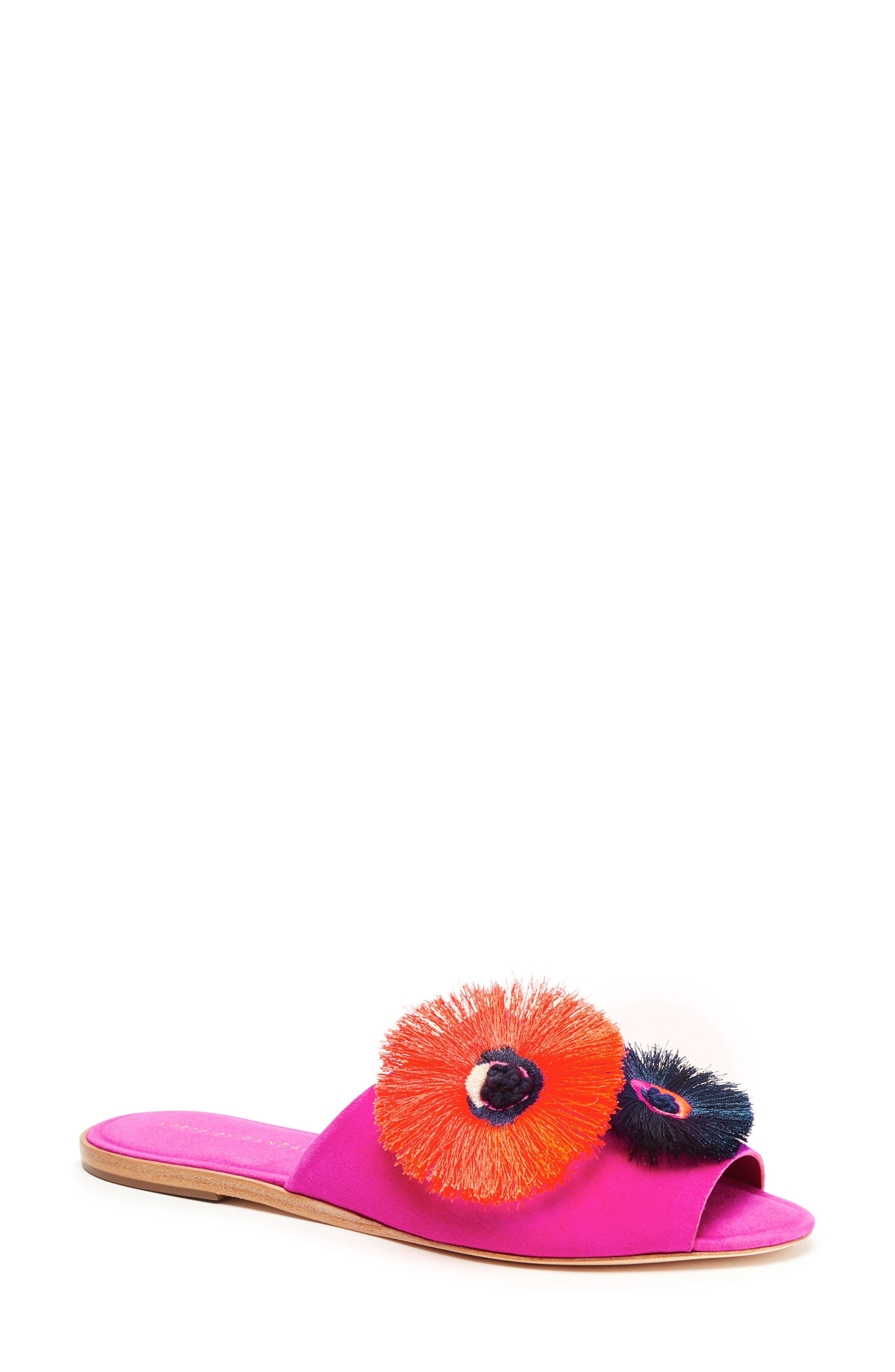 Loeffler Randall Kiki Flower Slide Sandal (Women)