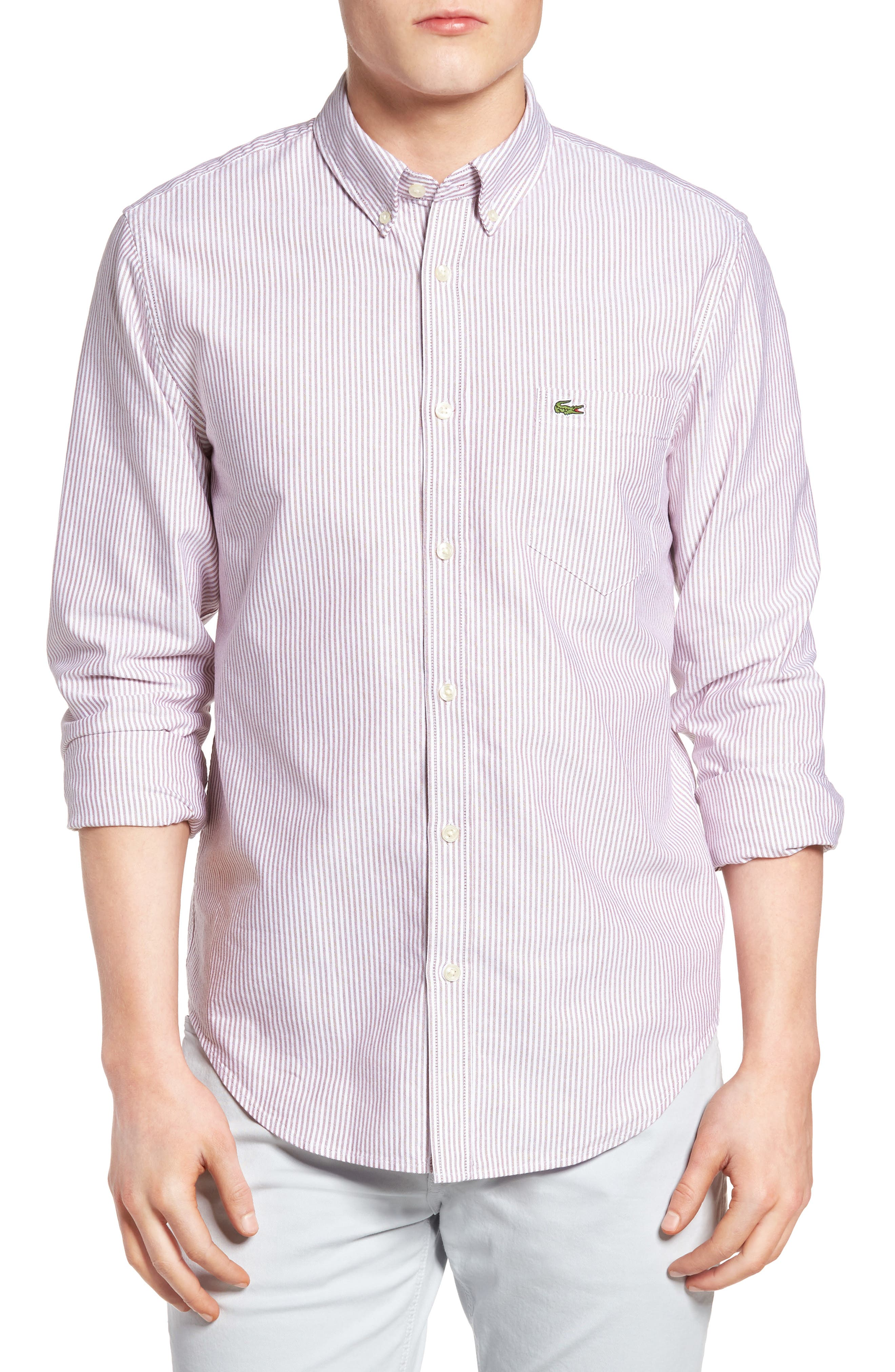 LacosteRegular Fit Bengal Stripe Oxford Woven Shirt