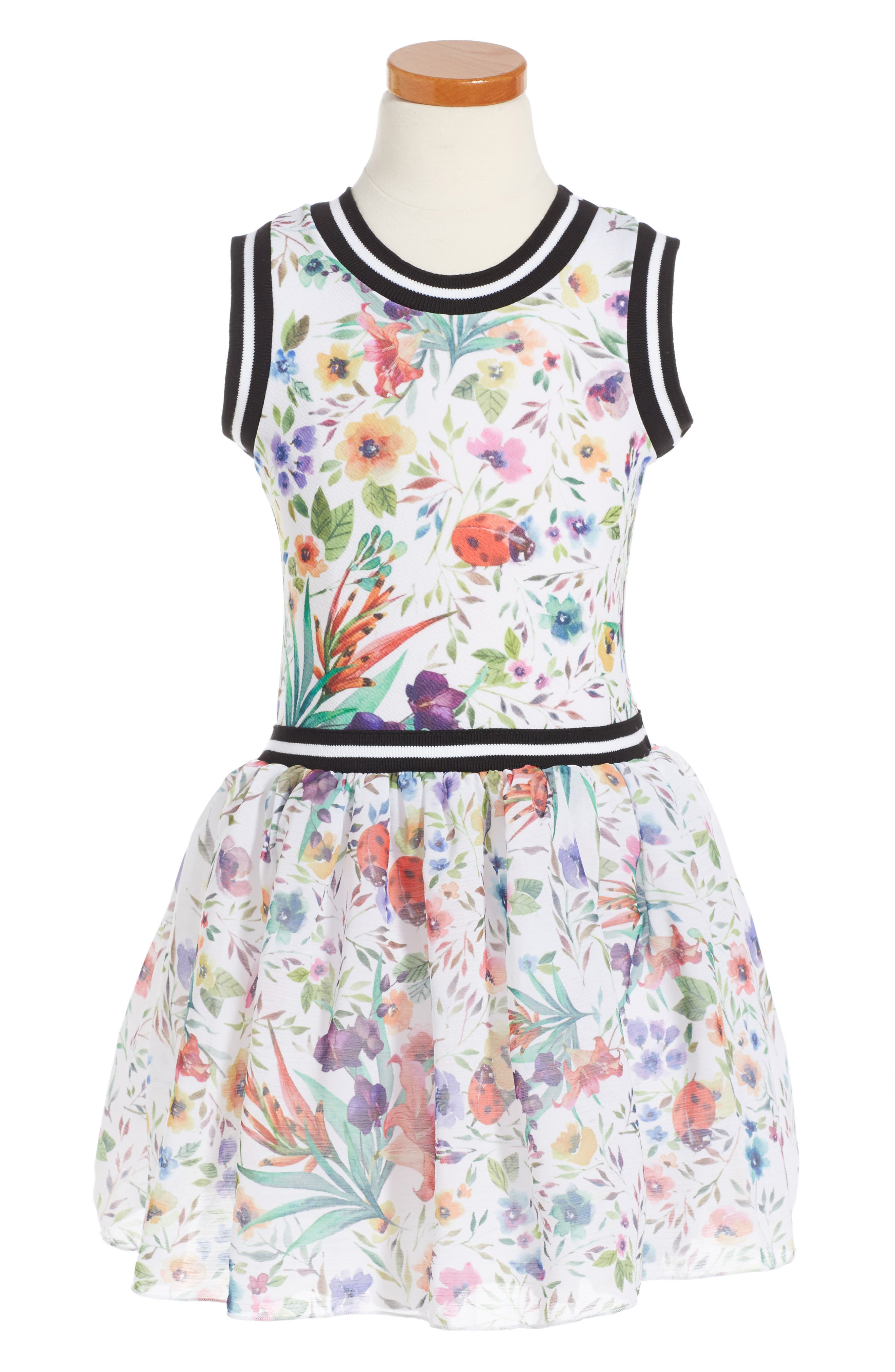 Twirls & Twigs Floral Print Sleeveless Dress (Toddler Girls, Little Girls & Big Girls)