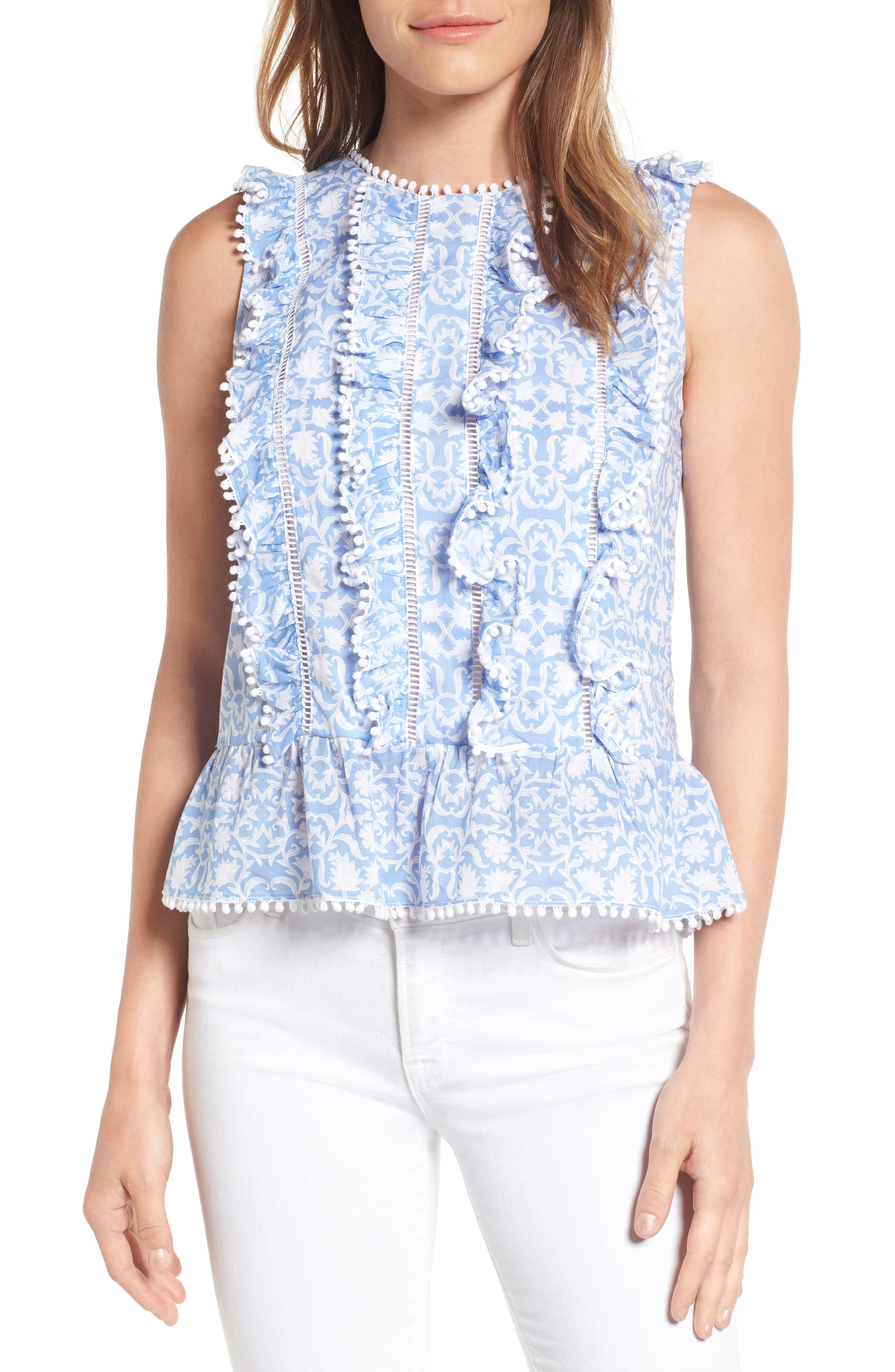Draper James Rosie Ruffle Top