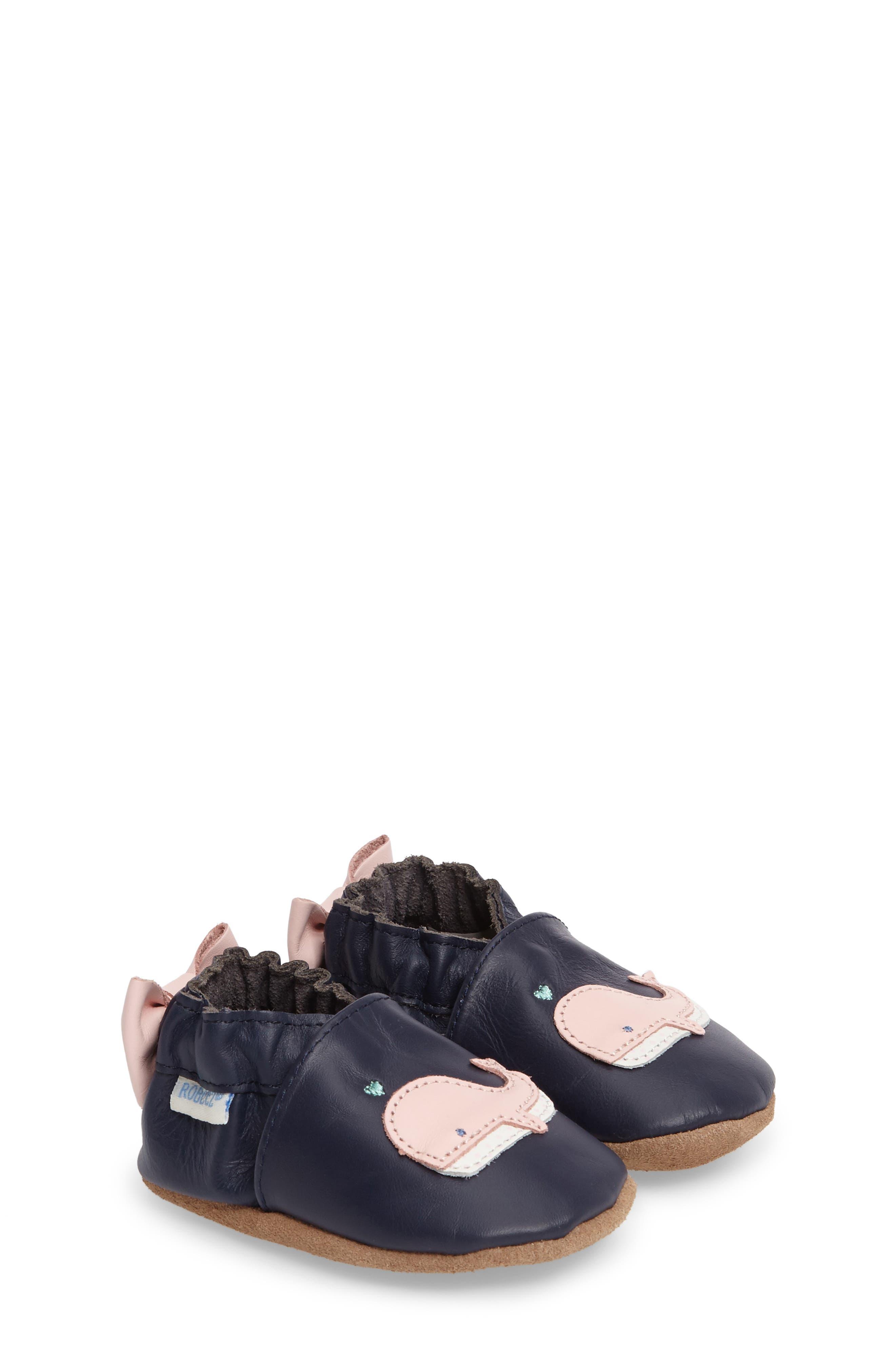 Robeez® Winnie the Whale Crib Shoe (Baby & Walker)