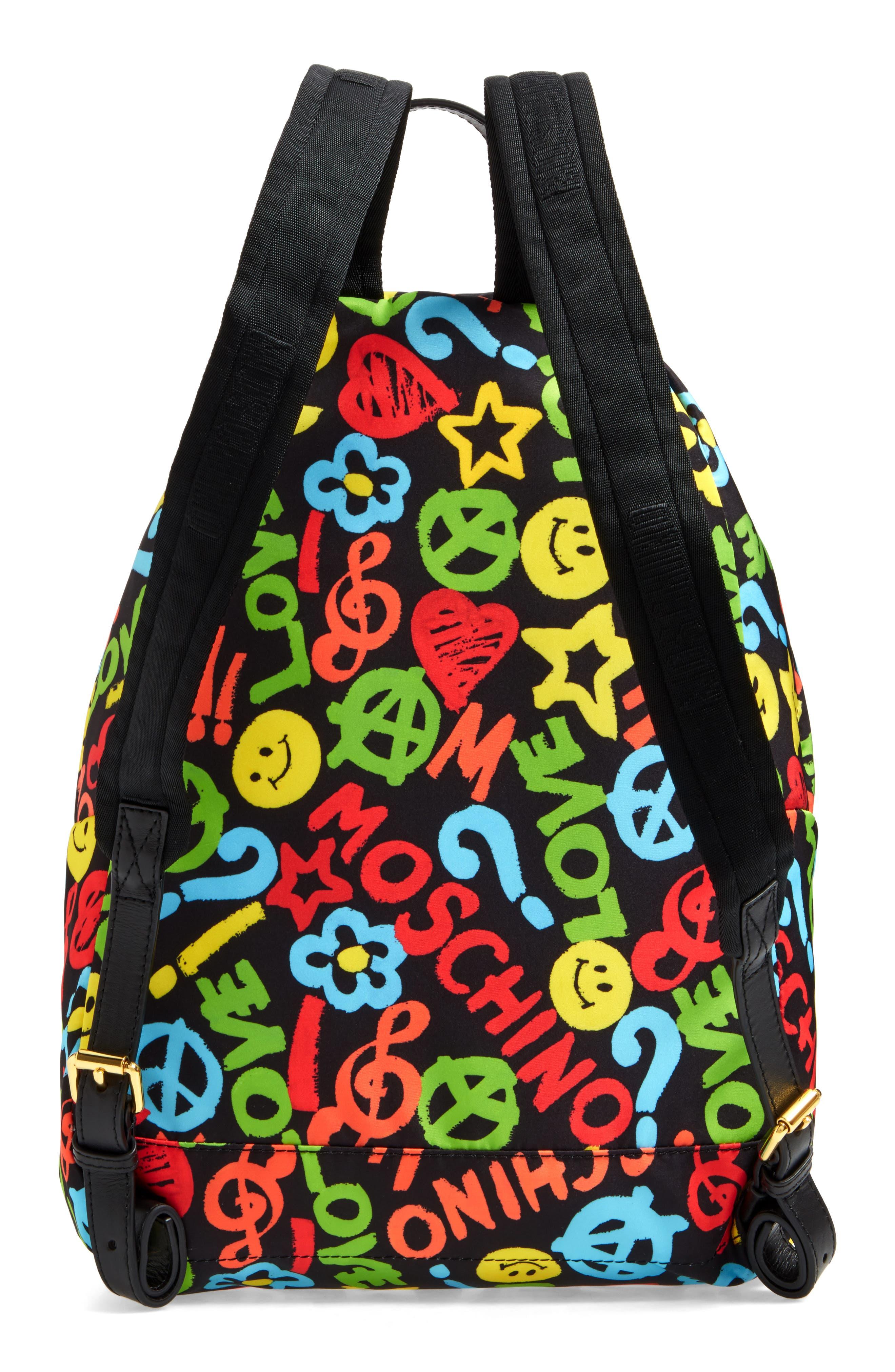 Alternate Image 2  - Moschino Archive Print Tactel® Nylon Backpack